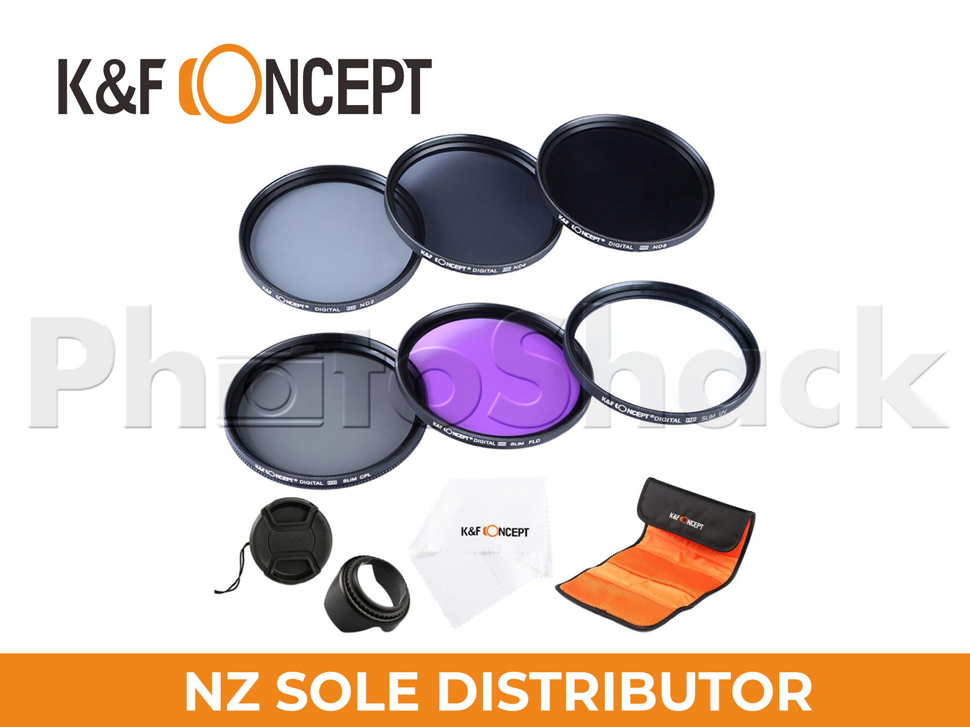 Filter Set (UV, CPL, FLD, ND2, ND4, ND8) - K&F Concept