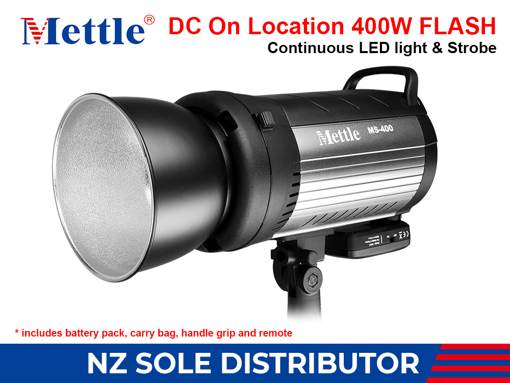 STUDIO FLASH - 400W - METTLE MS400 WITH SOFT CARRY BAG