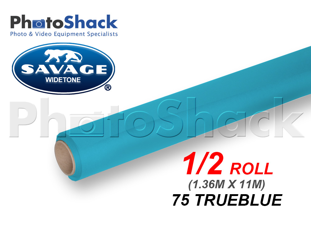 SAVAGE Paper Background Half Roll - 75 True Blue