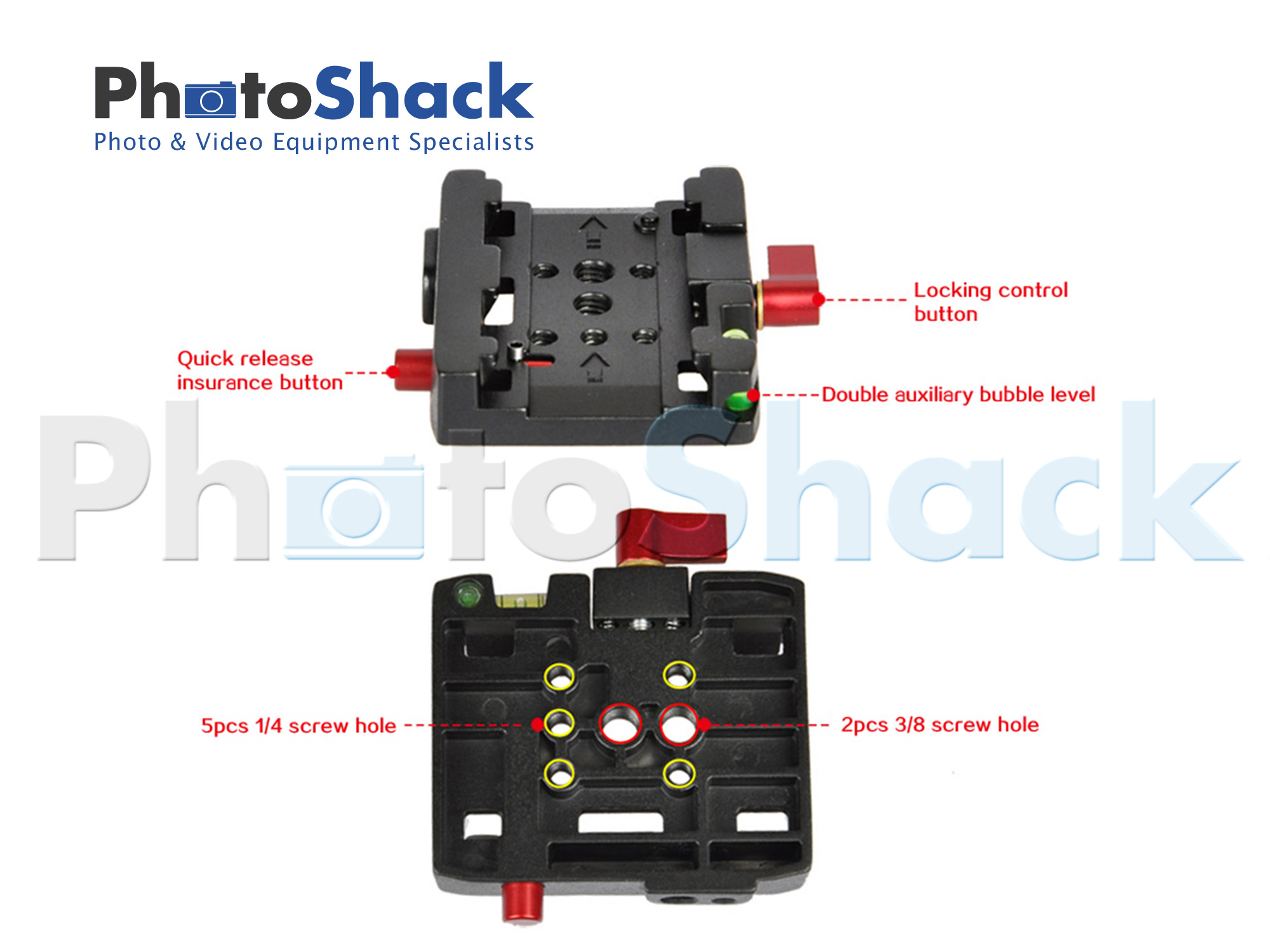 Commlite Quick Release Plate for Tripod Head, DSLR Video Camera
