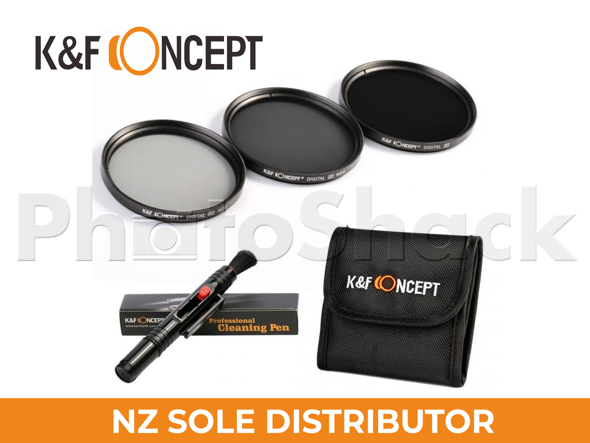 KNDSetP55 - Neutral Density ND2 + ND4 + ND8 Filter Set w/ Cleaning Pen