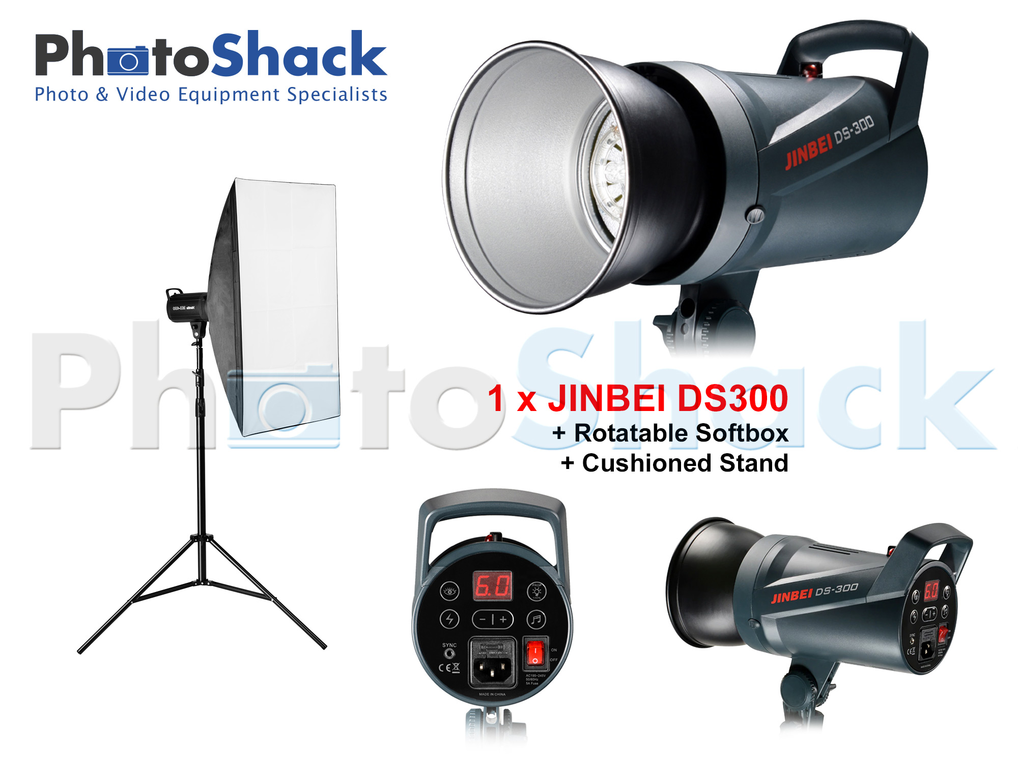 Studio Light Set 300W - Jinbei (DS300x1)