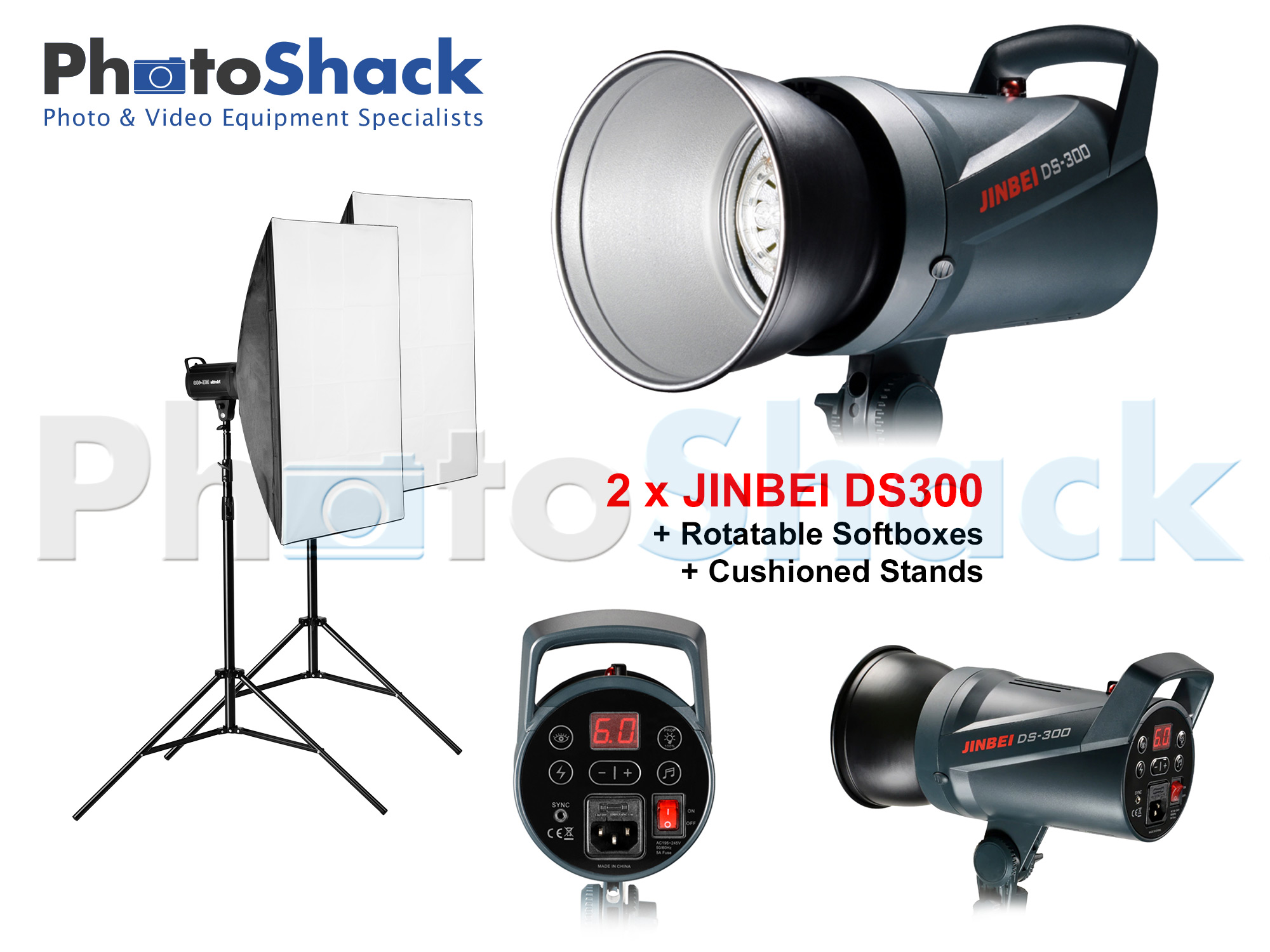 Studio Light Set 300W - Jinbei (DS300x2)