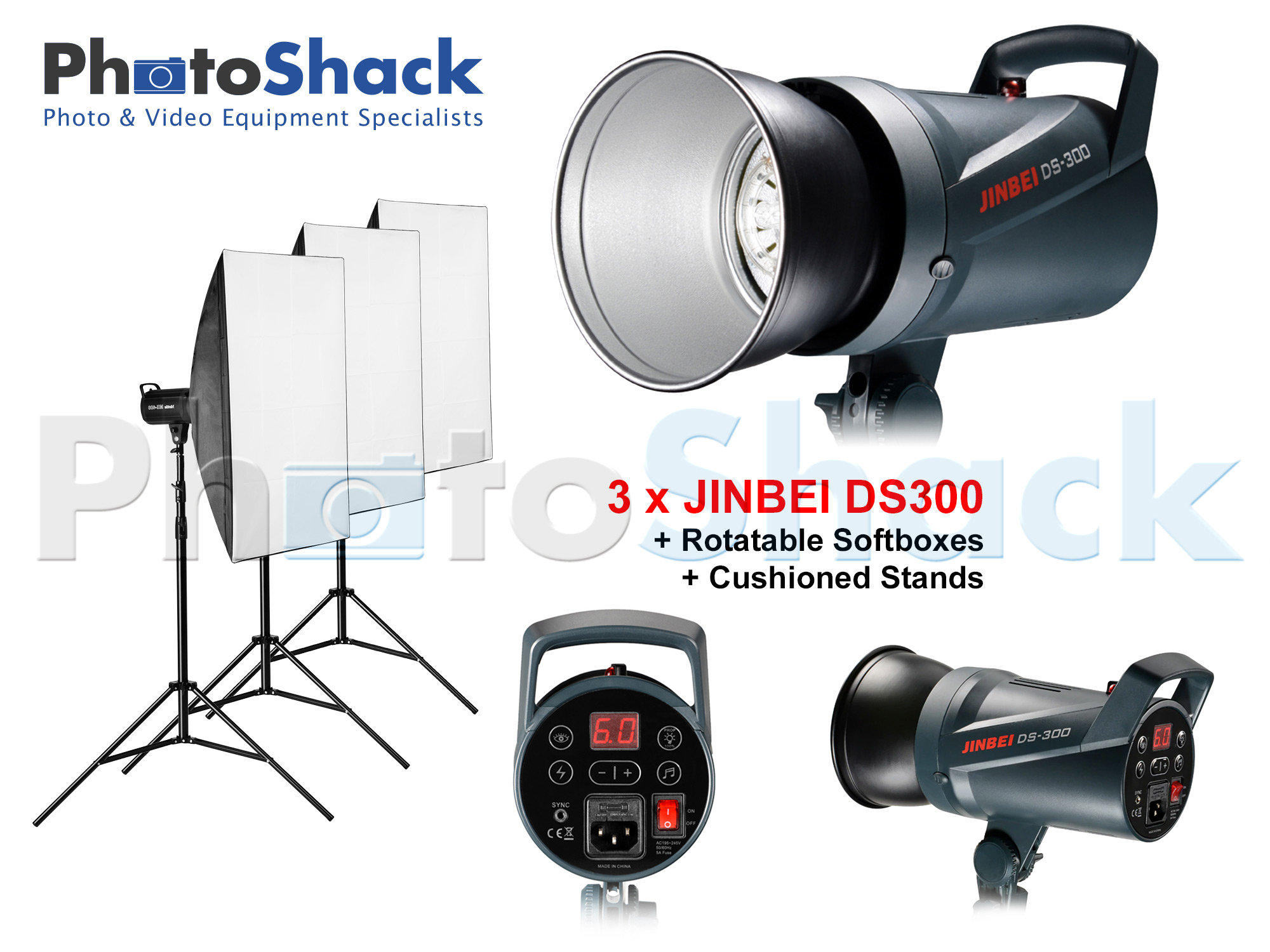 Studio Light Set 300W - Jinbei (DS300x3)