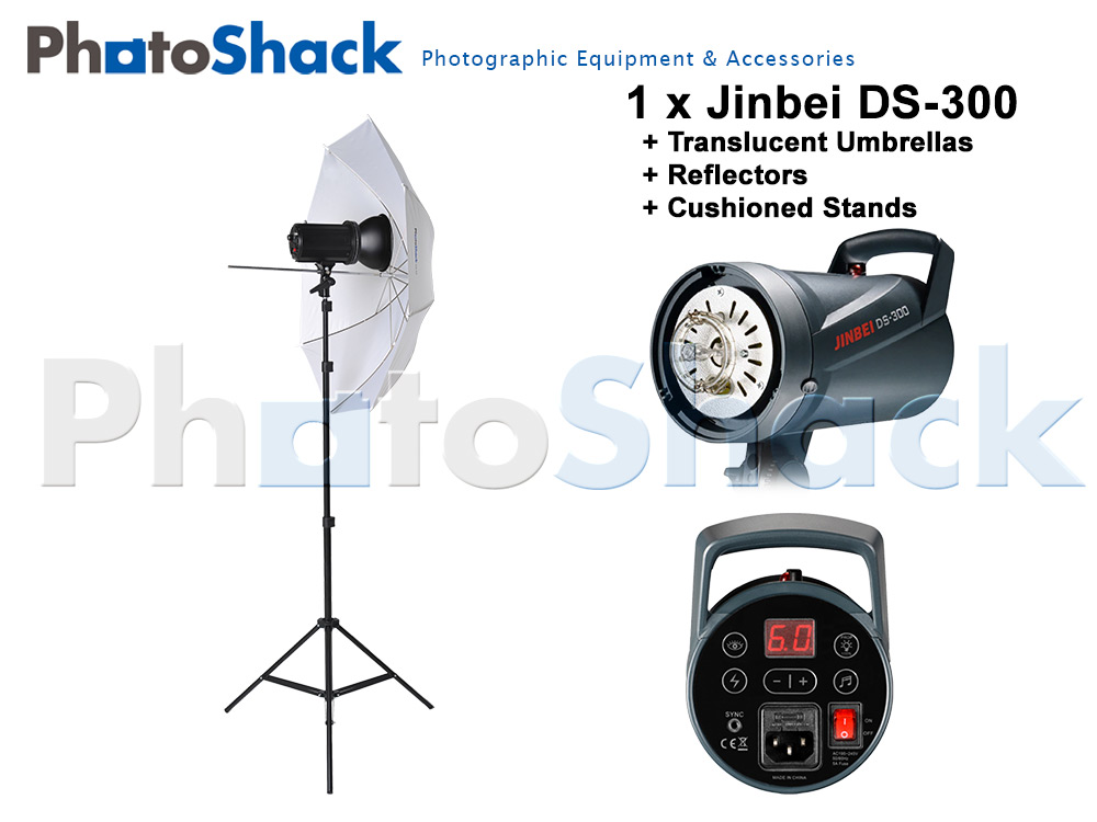 Jinbei DS-300 light set with Umbrella - 300W (1x300W)