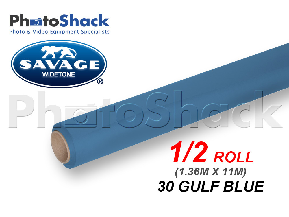 SAVAGE Paper Background Half Roll - 30 Gulf Blue