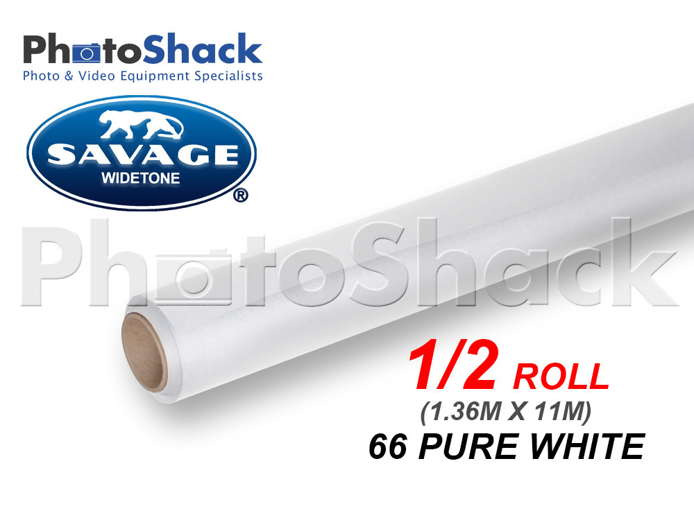 SAVAGE Paper Background Half Roll - 66 Pure White