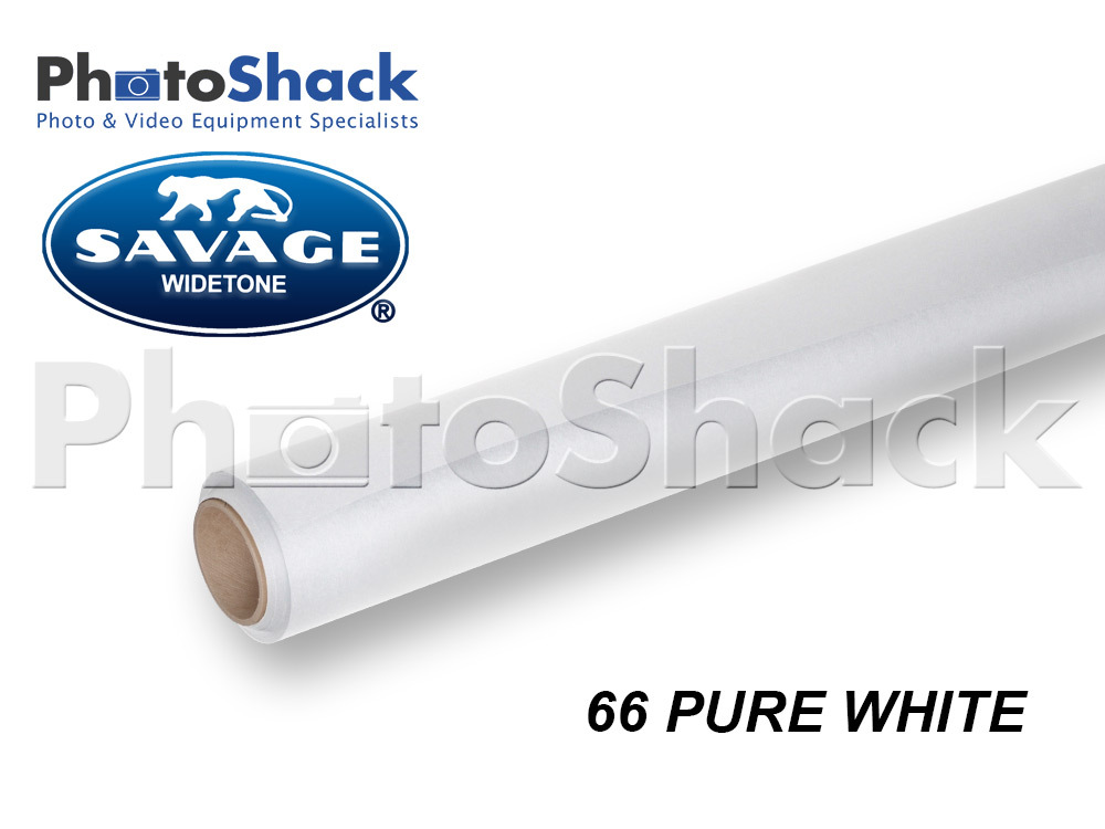 SAVAGE Paper Backdrop Roll - 66 Pure White