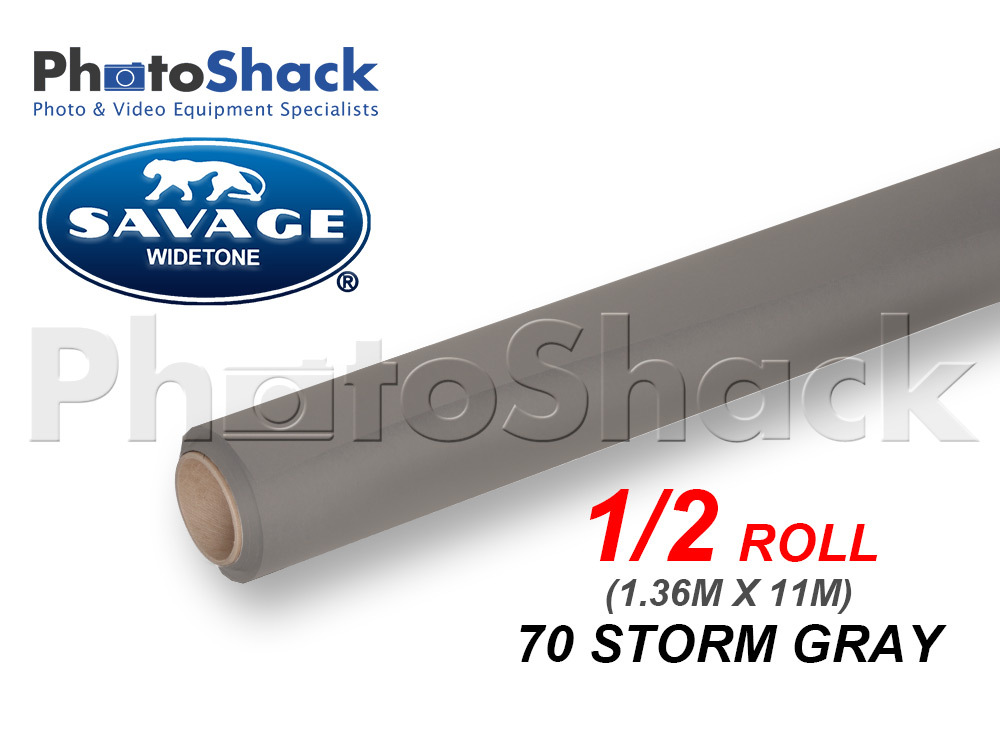 SAVAGE Paper Backdrop Half Roll - 70 Storm Gray