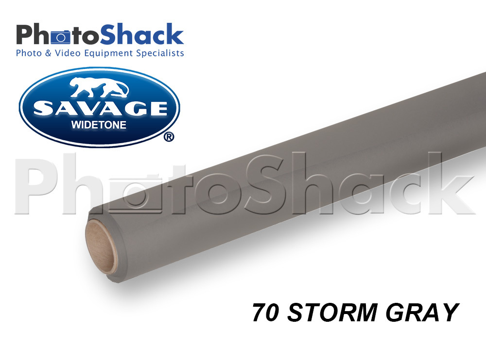 SAVAGE Paper Background Roll - 70 Storm Gray
