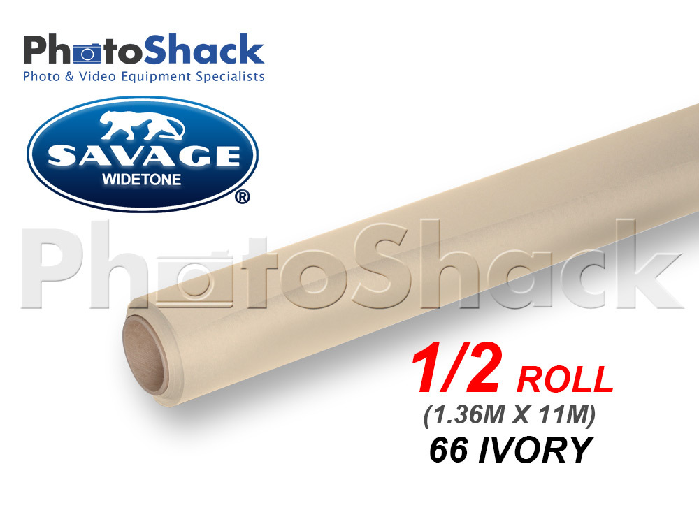 SAVAGE Paper Background Half Roll - 63 Ivory