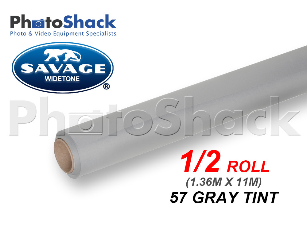 SAVAGE Paper Background Half Roll - 57 Gray Tint