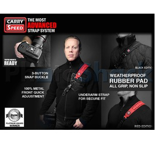 Carry Speed Xtreme Weatherproof Sports Camera Strap - ExtremeBlack