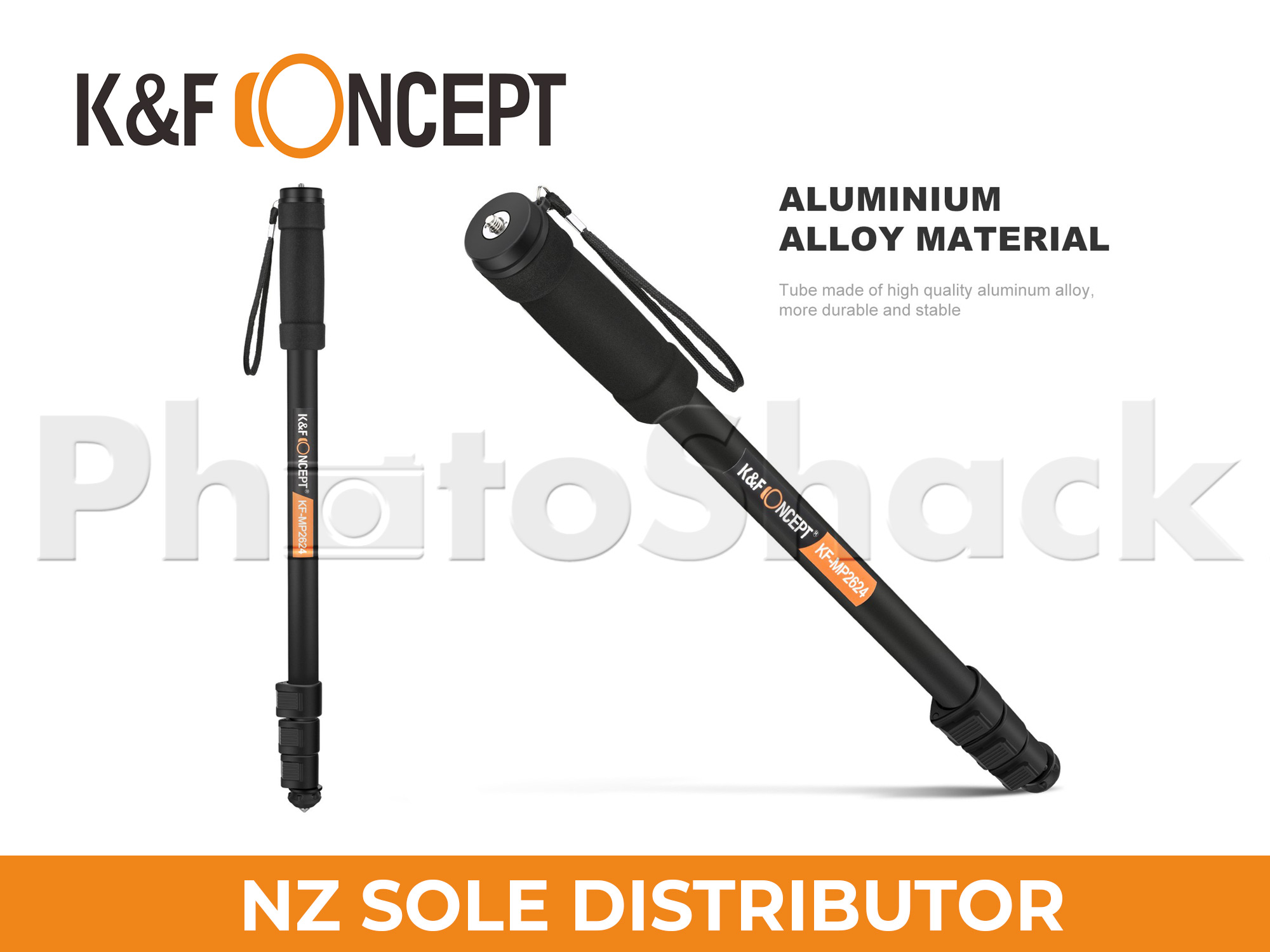 K&F Concept Lightweight aluminum alloy monopod adjustable-height leg and rubber feet