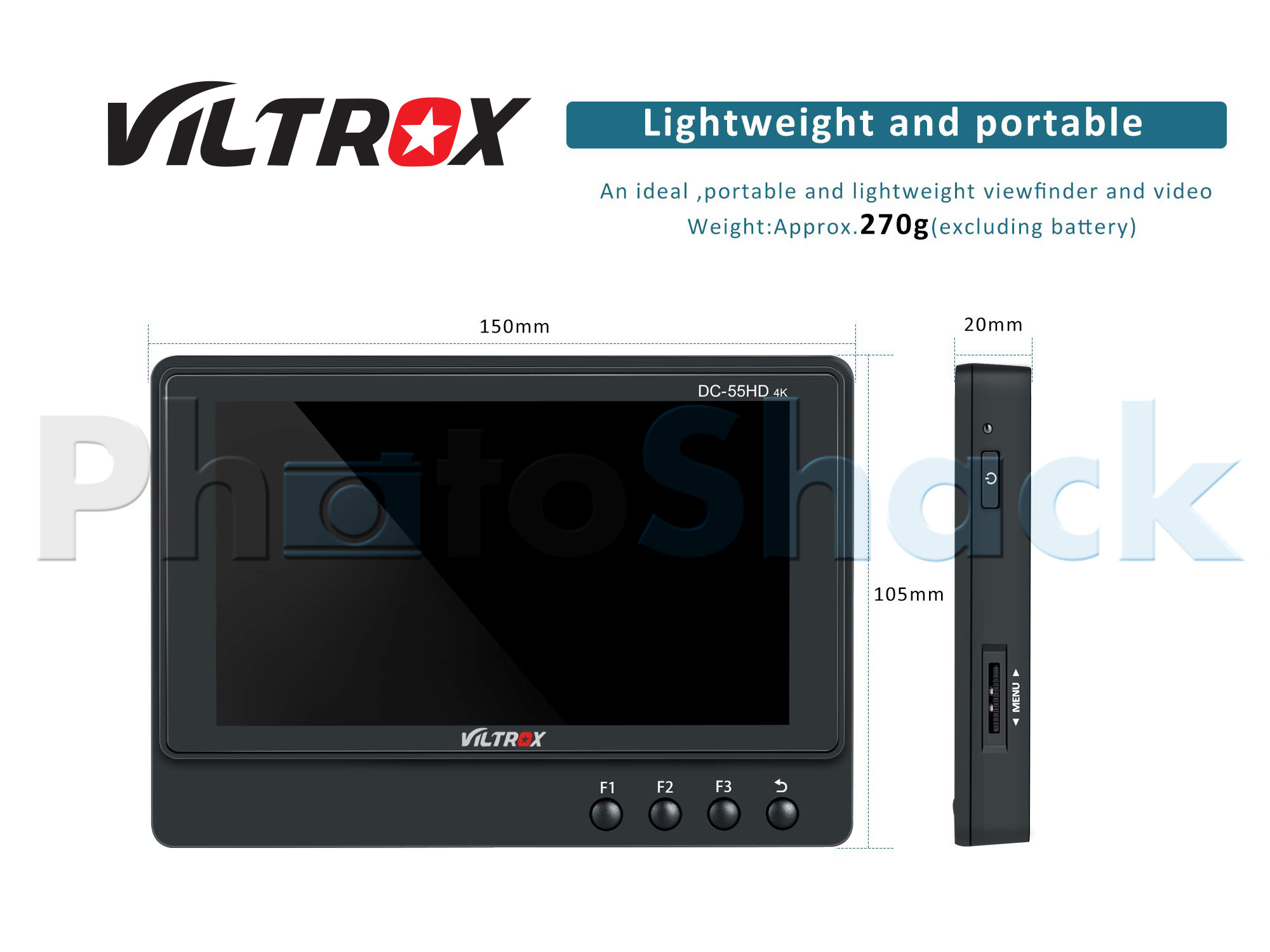 "Viltrox DC-55 5.5"" inch 4K HDMI On-Camera LCD Monitor"