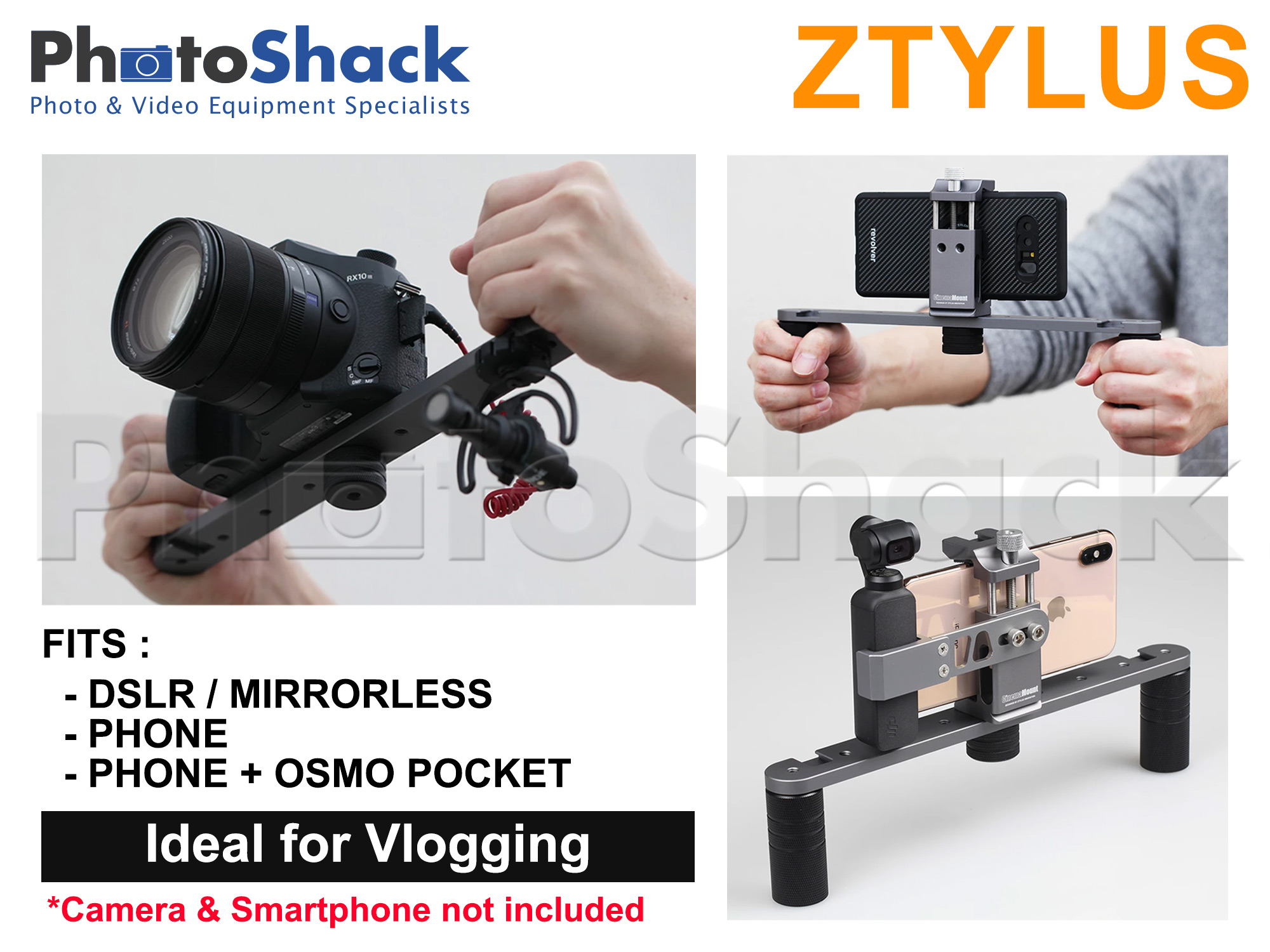 Ztylus Cinema Mount MKIII with Osmo Pocket Clip Kit