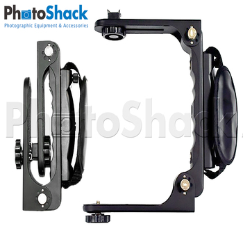 Quick flip collapsible flash bracket