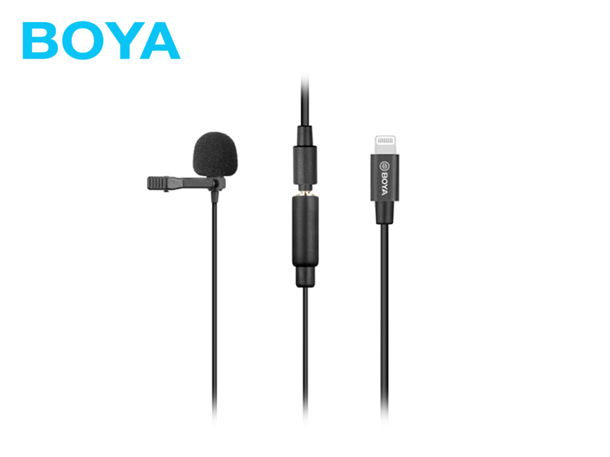 BOYA BY-M2 Clip-on Lavalier Microphone (For iOS system)