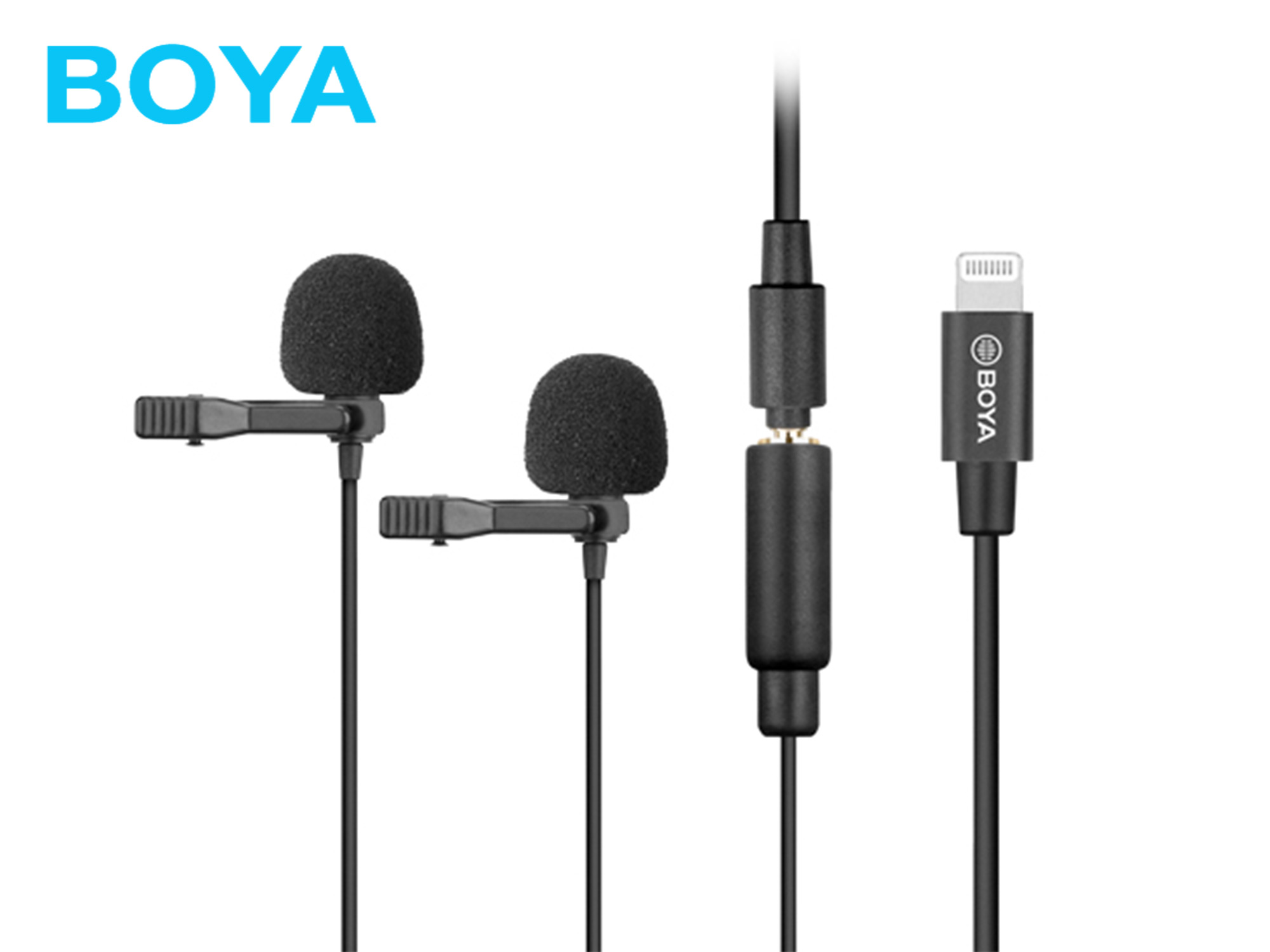 Boya BY-M2D Digital Dual Lavalier Microphones for iOS devices