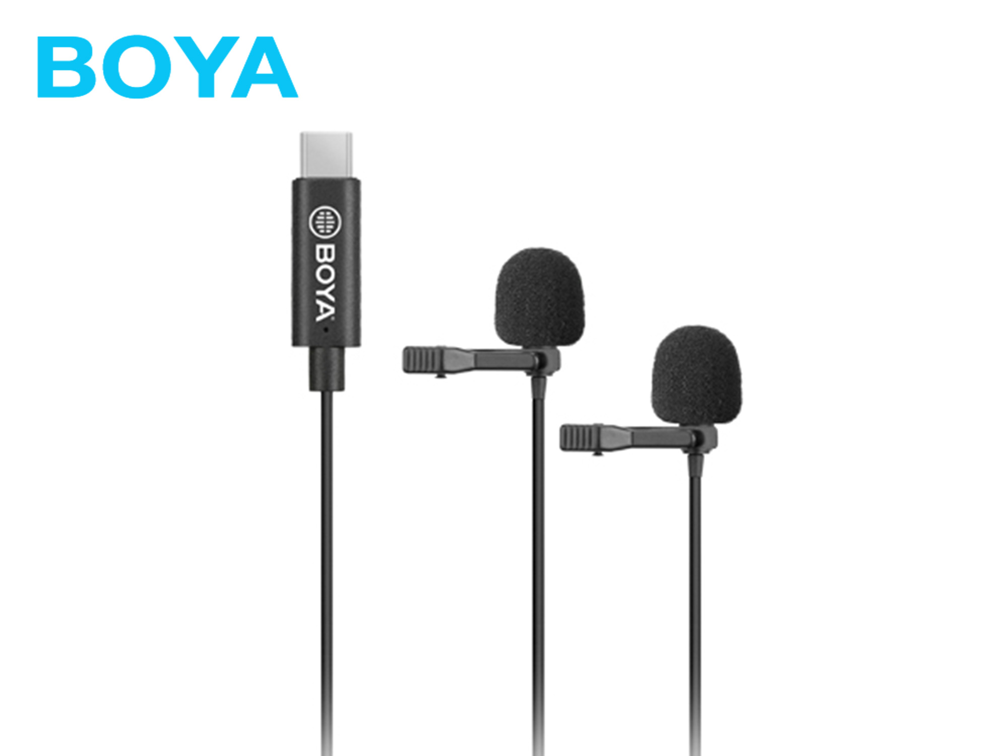 Boya BY-M3D Digital Dual Lavalier Microphone (for USB-C android devices USB-C)