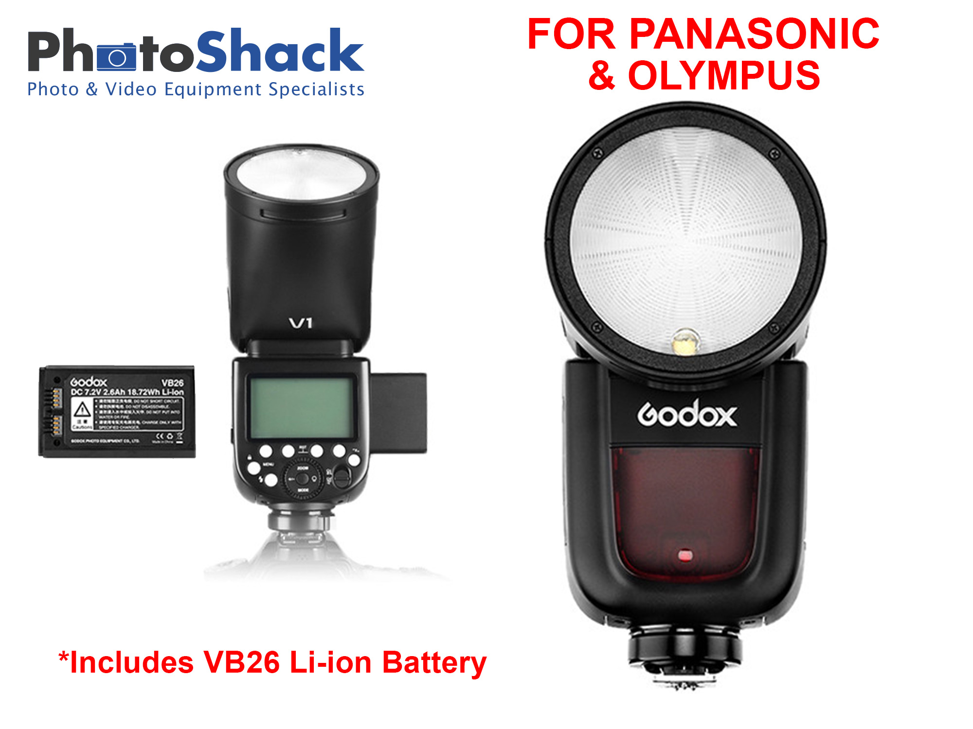 Godox V1 Flash for Panasonic/Olympus