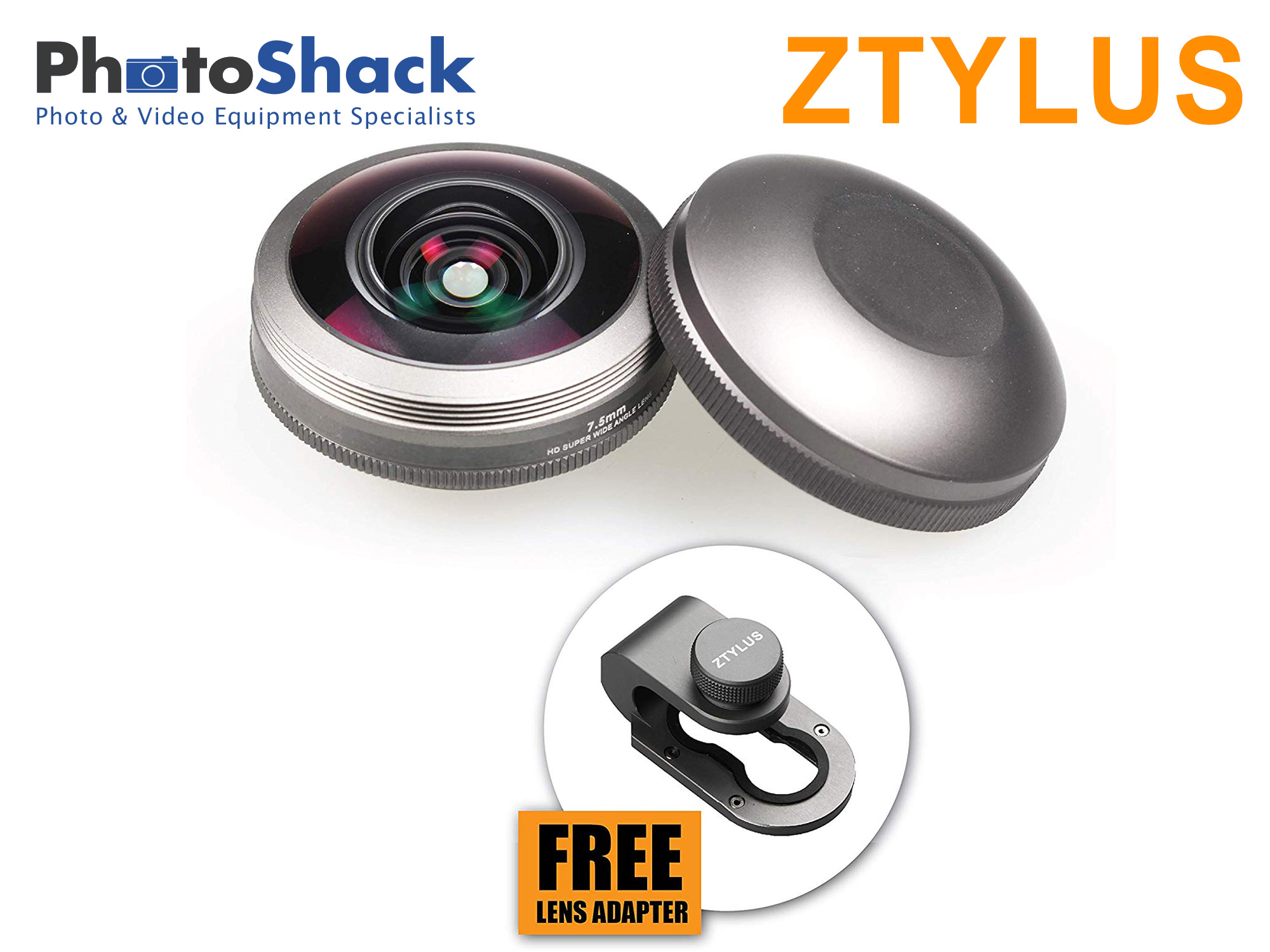 Ztylus Z-Prime Universal Fisheye Lens with Free Adapter