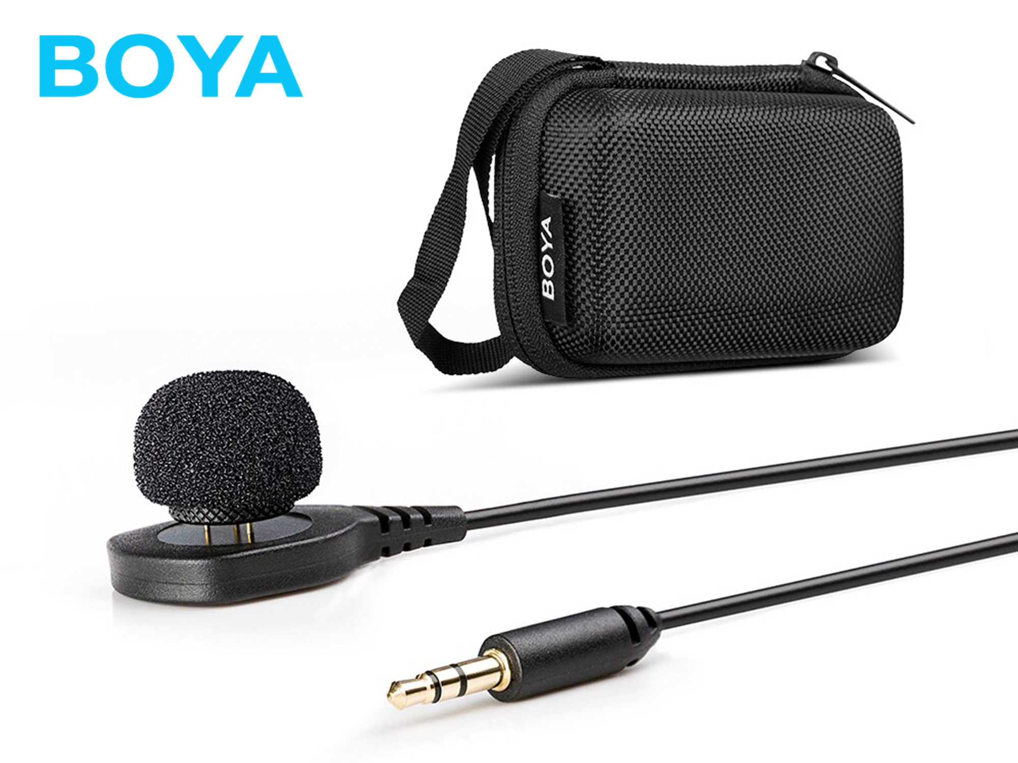 BOYA BY-HLM1 Wearable Pin Microphone Omnidirectional Condenser Lavalier