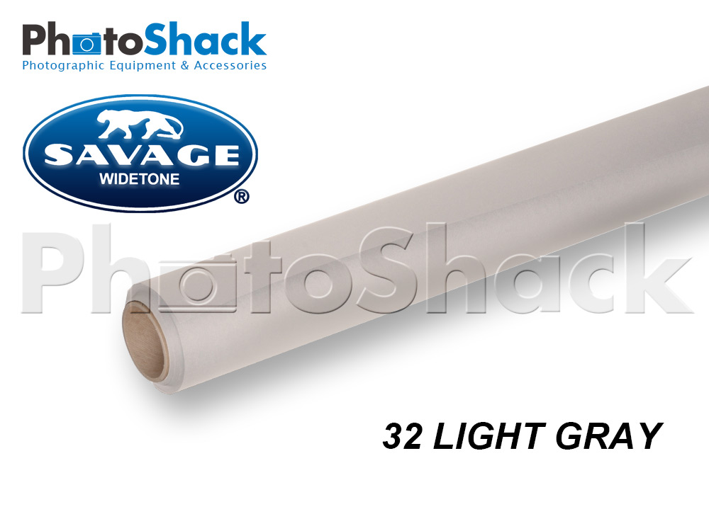 SAVAGE Paper Backdrop Roll - 32 Light Gray