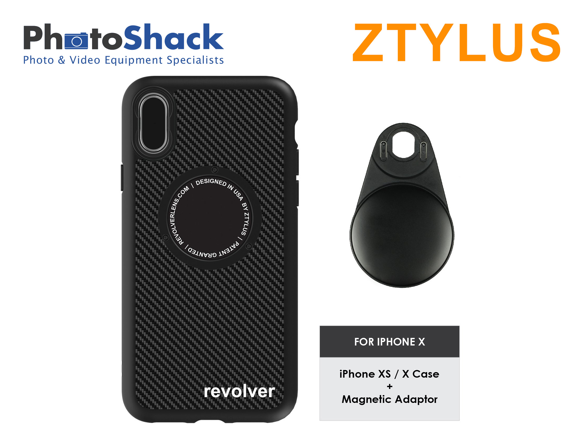 Ztylus iPhone Case (carbon fiber) for iPhone X and Magnetic Adapter