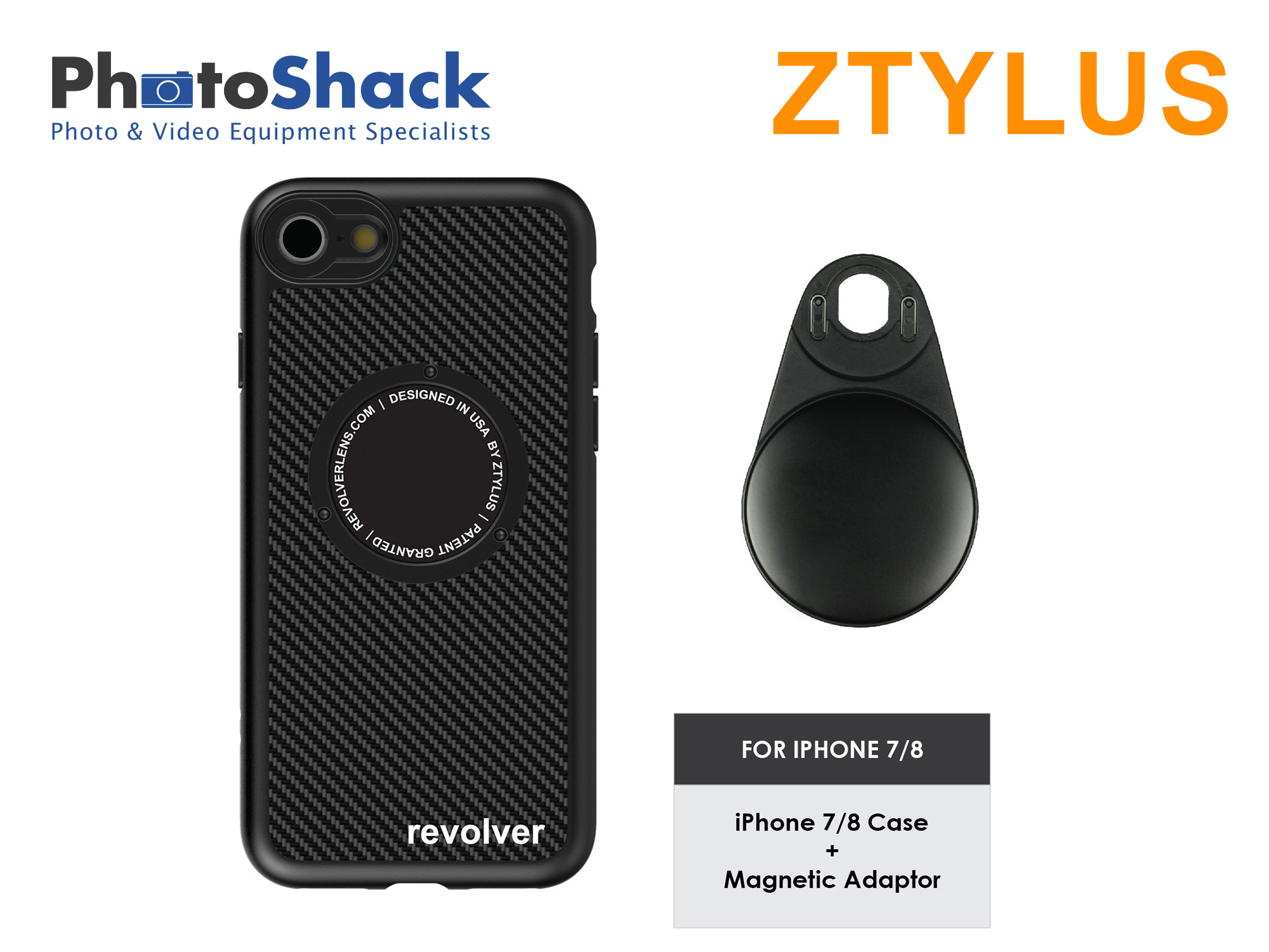 Ztylus iPhone Case for iPhone 7 / 8 and Magnetic Adapter