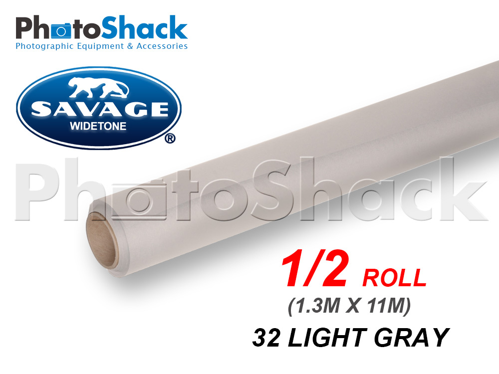 SAVAGE Paper Background Half Roll - 32 Light Gray