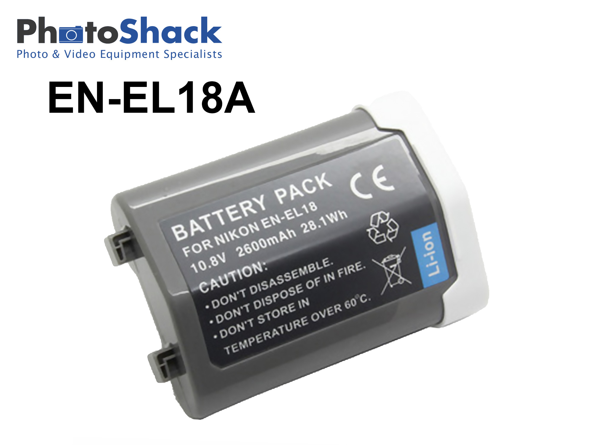 EN-EL18a Battery for Nikon D4 D4s and D5 Cameras