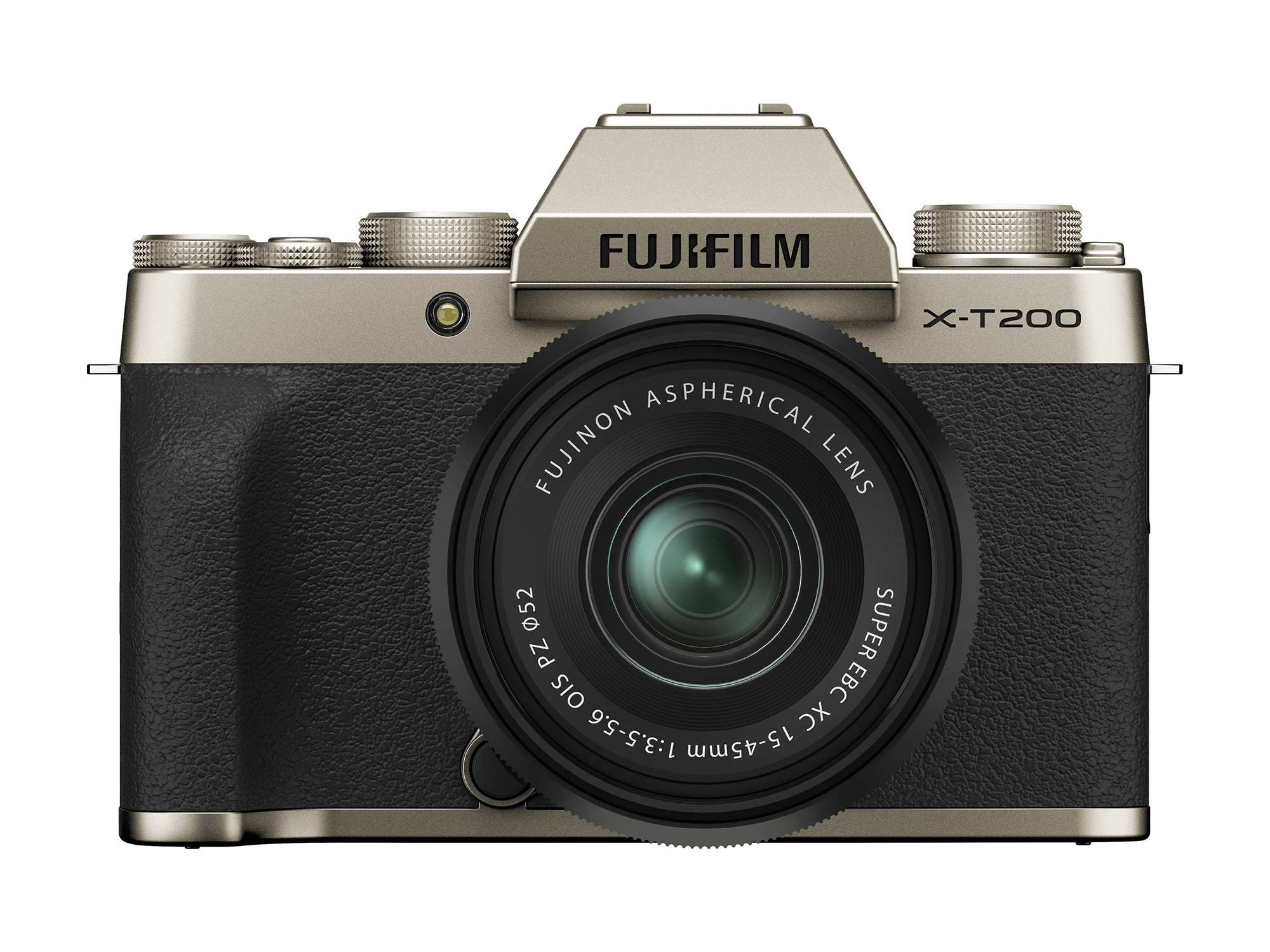 FUJIFILM X-T200 Mirrorless Digital Camera with 15-45mm (Champagne Gold)