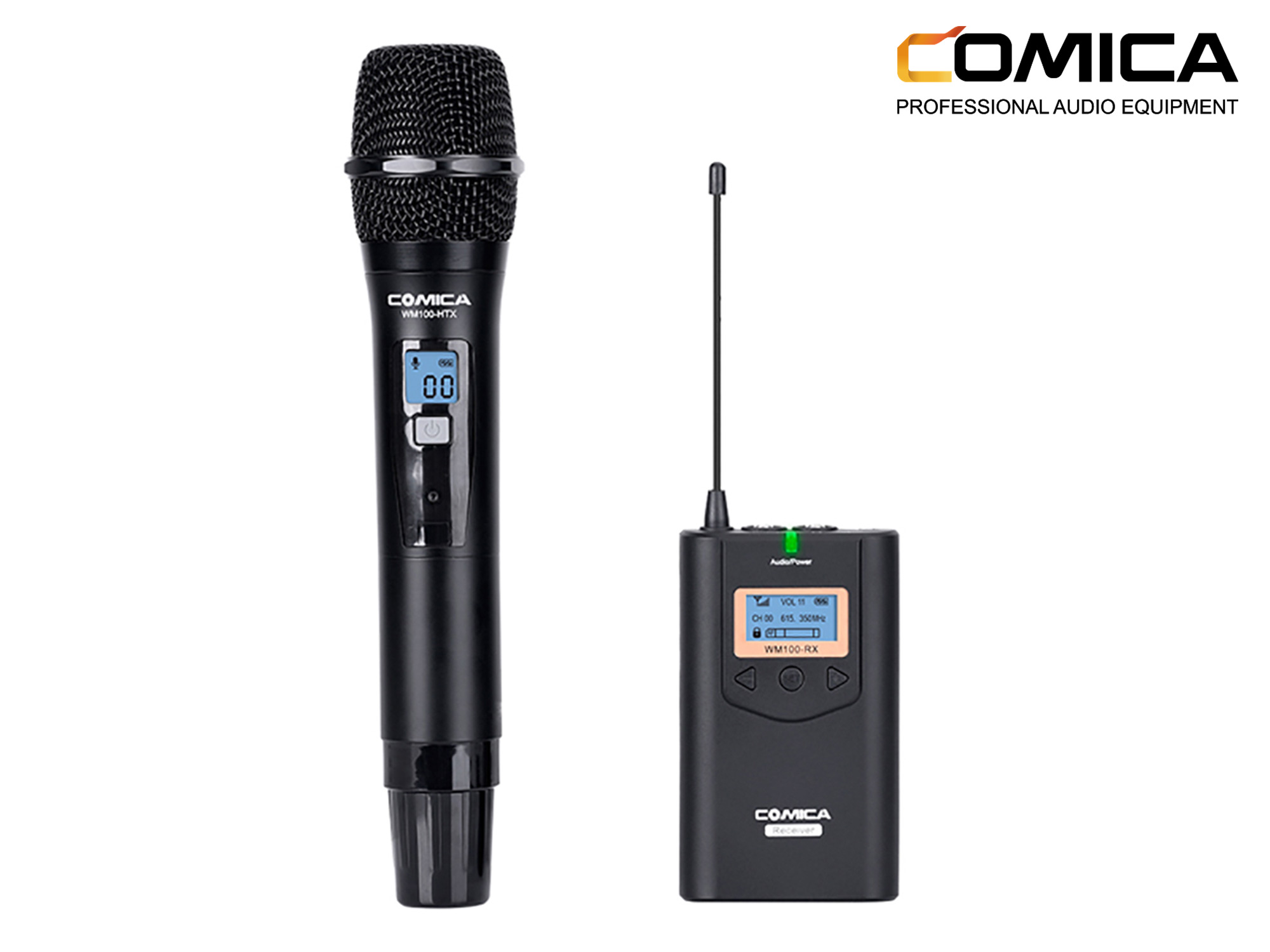 Comica CVM-WM100H Professional Wireless Handhold Microphone 48 Channels 100M
