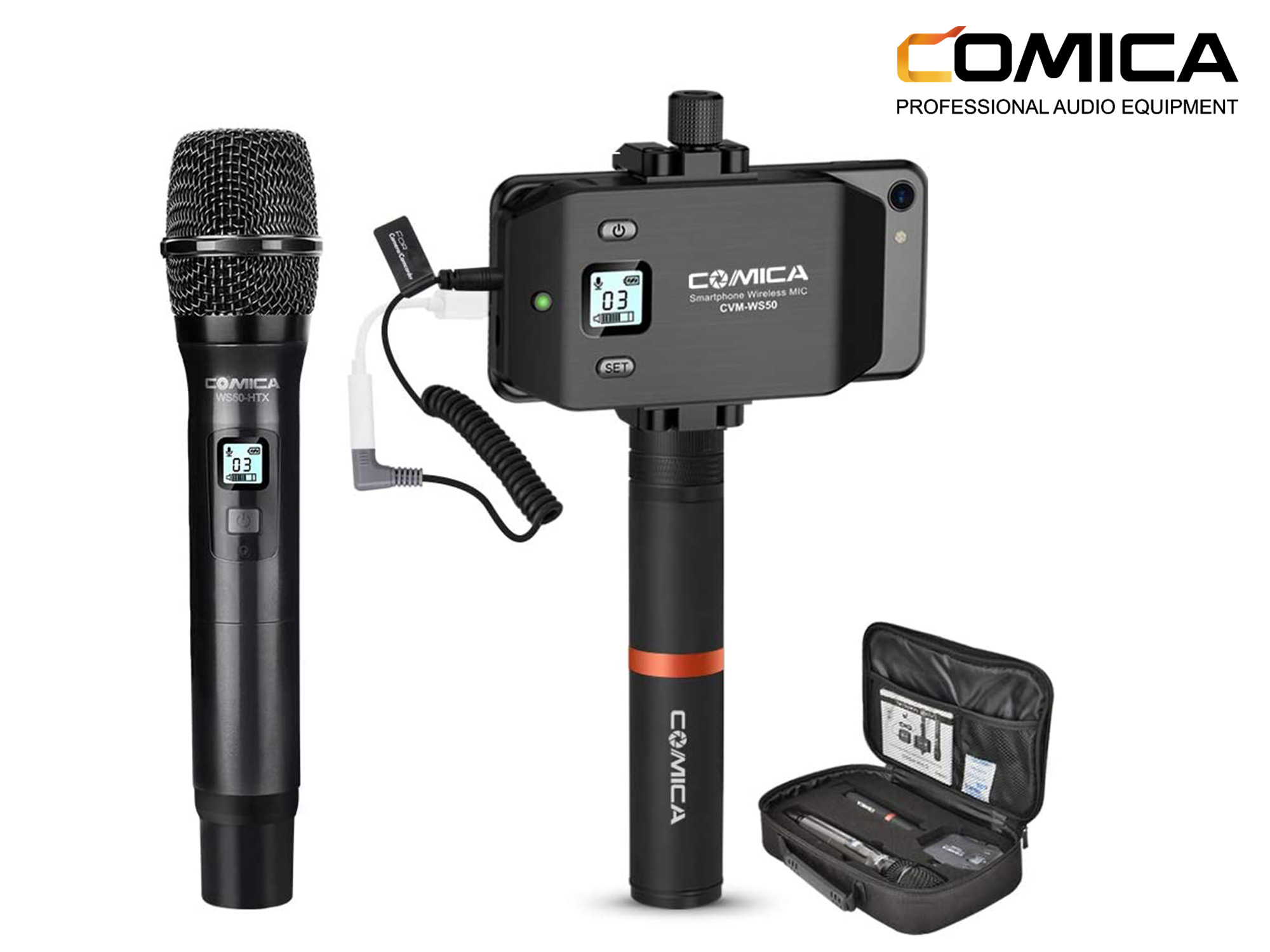 Comica 6 Channels Professional Handheld Microphone