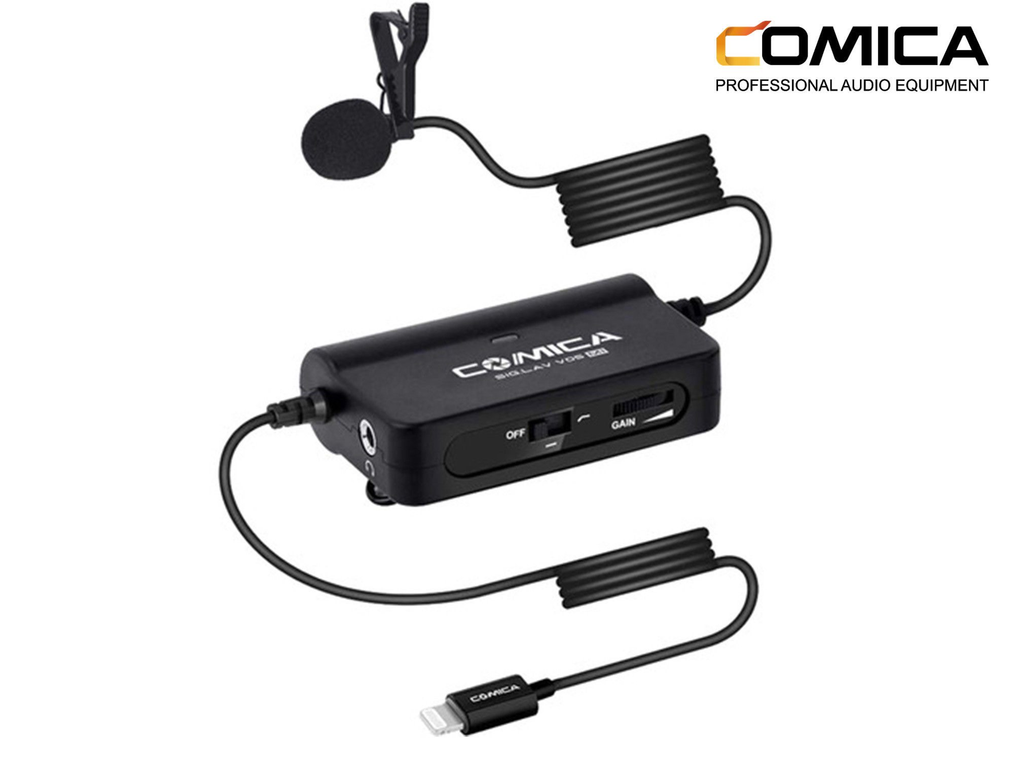 Comica Single Lavalier Microphone for iPhone with Lightning Interface