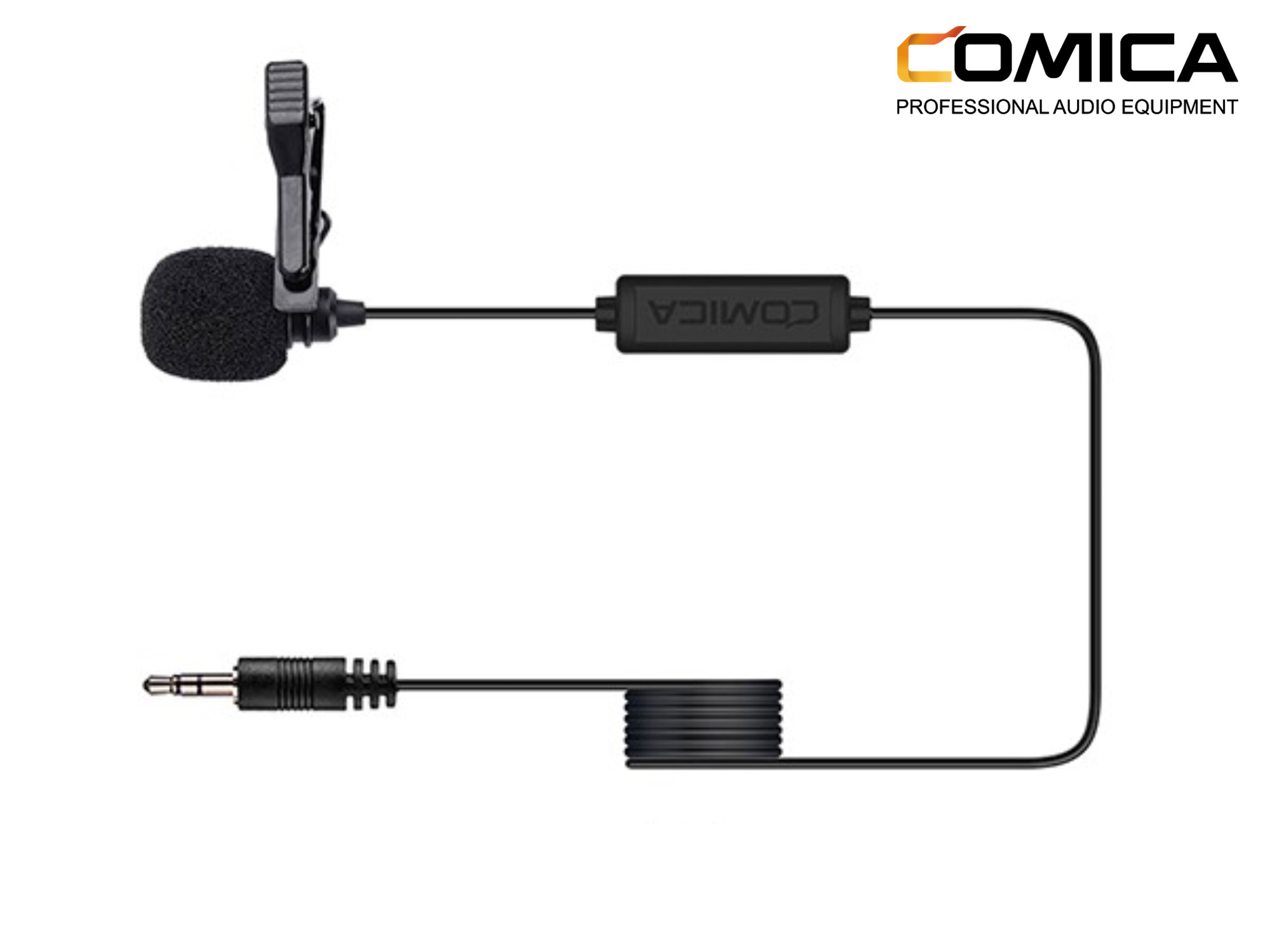 COMICA CVM-V01CP Lavalier 2.5M Microphone for Camera/GoPro