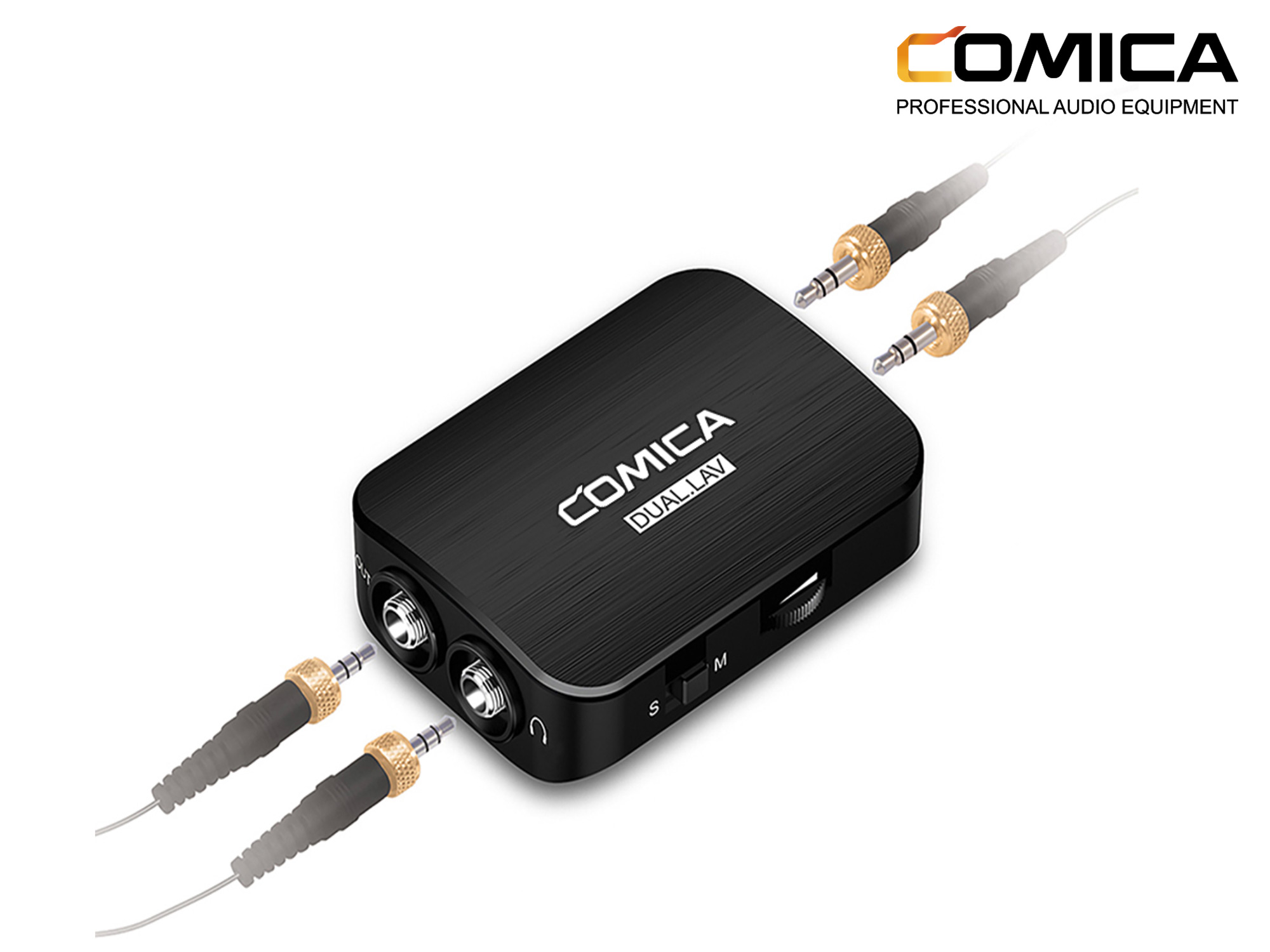 Comica Audio Omnidirectional Dual Lavalier Microphone Kit for DSLR and Smartphones