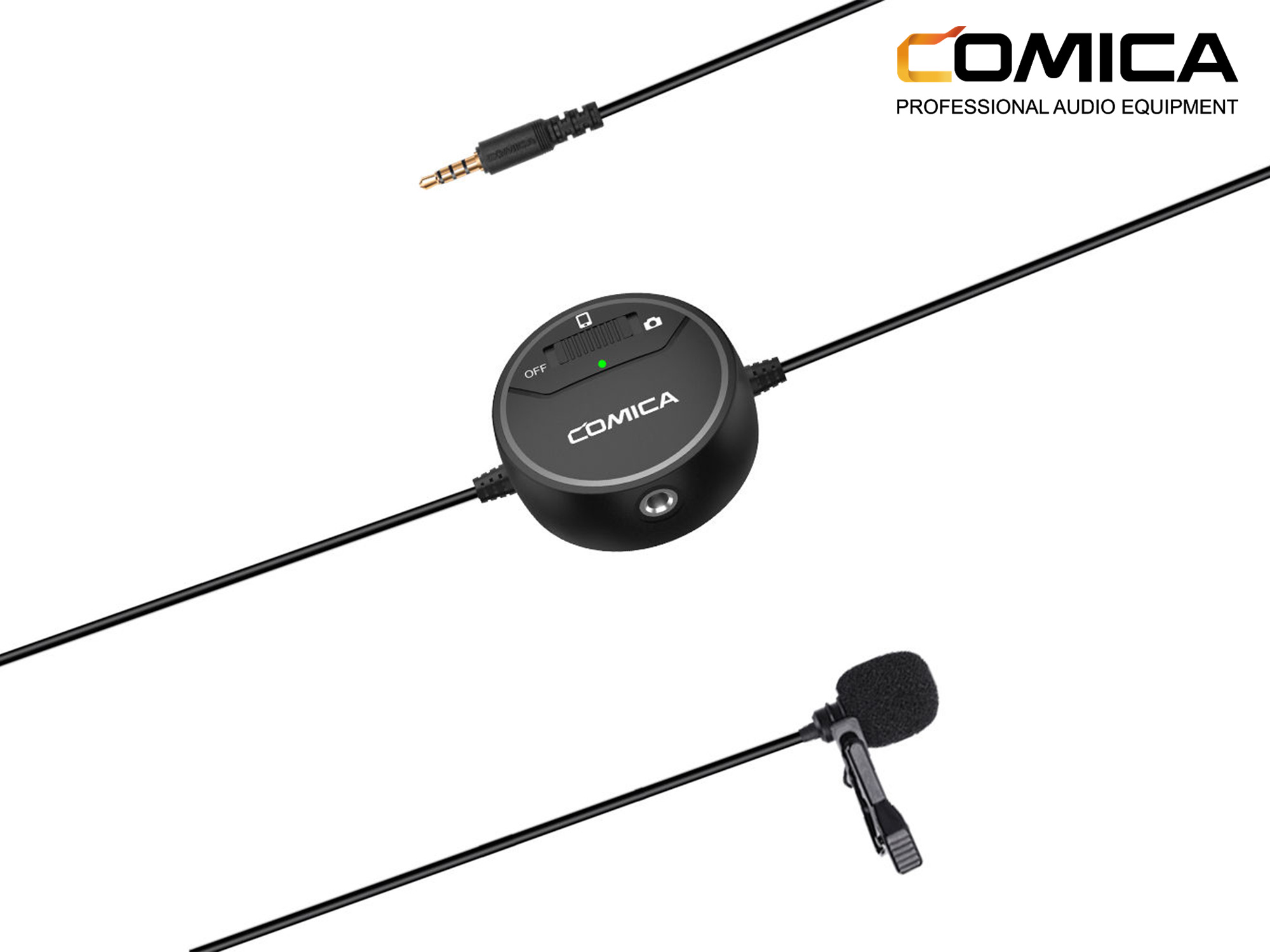 Comica Audio SIG.LAV V03 Omnidirectional Lavalier Microphone with Monitoring for DSLR Cameras and Smartphones