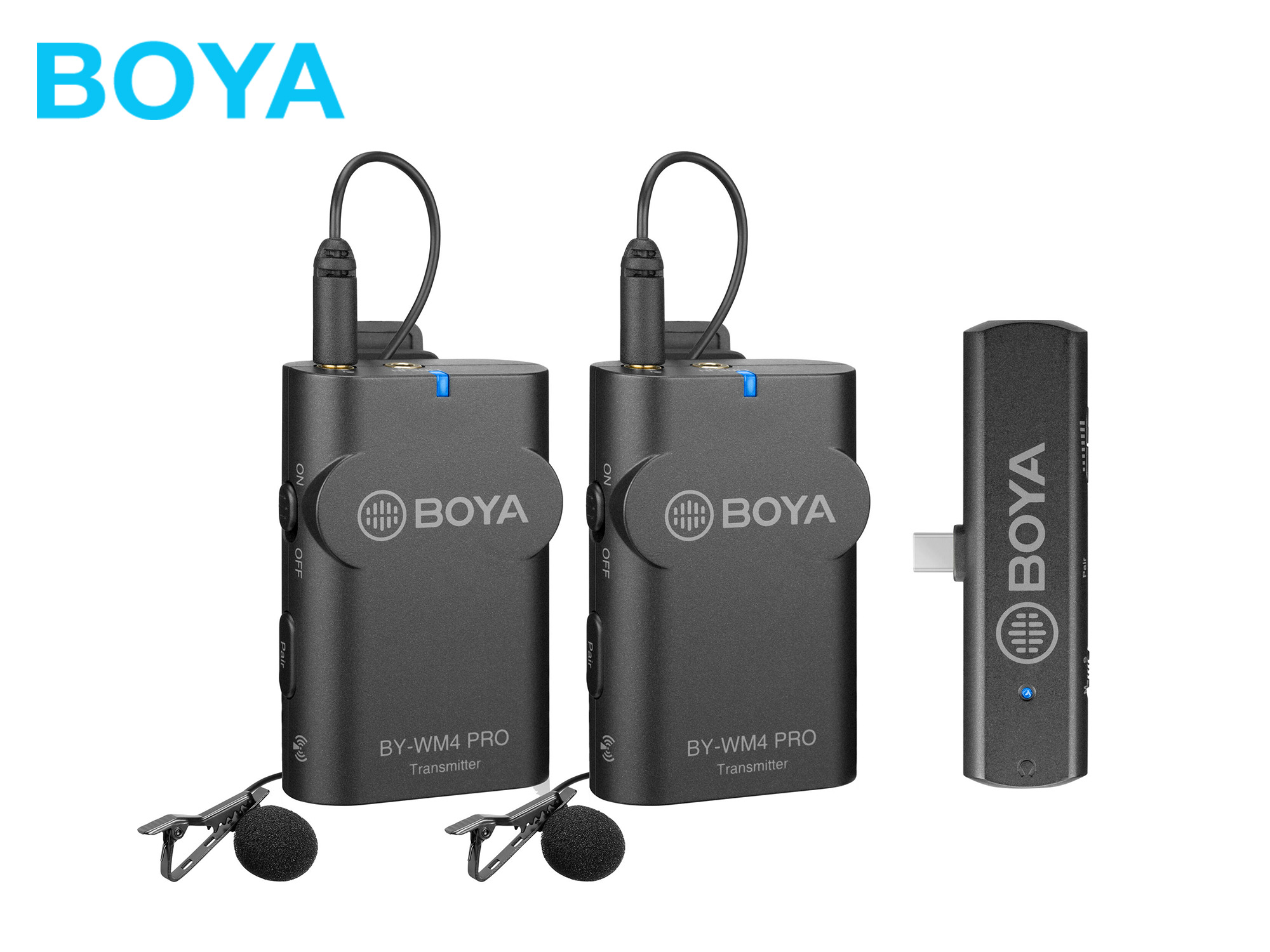 Boya BY-WM4 PRO K6 2.4 GHz Wireless Microphone System For Android and other Type-C devices (2 Transmitters)
