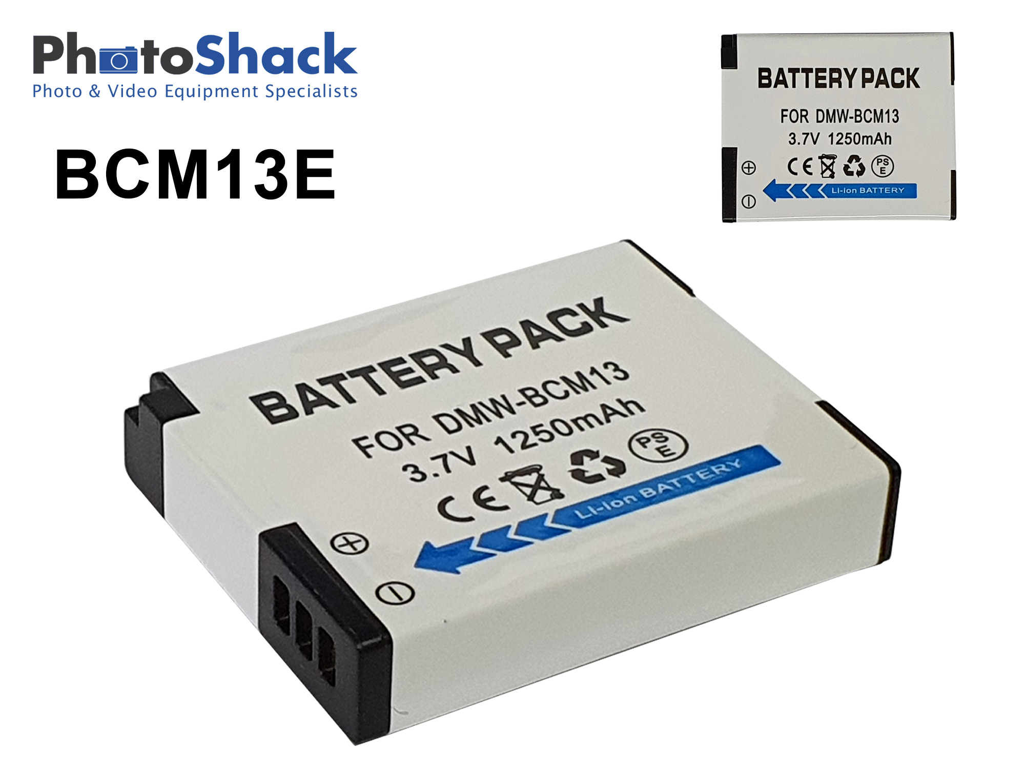 DMW-BCM13 Battery for Panasonic Cameras - 1250mAh
