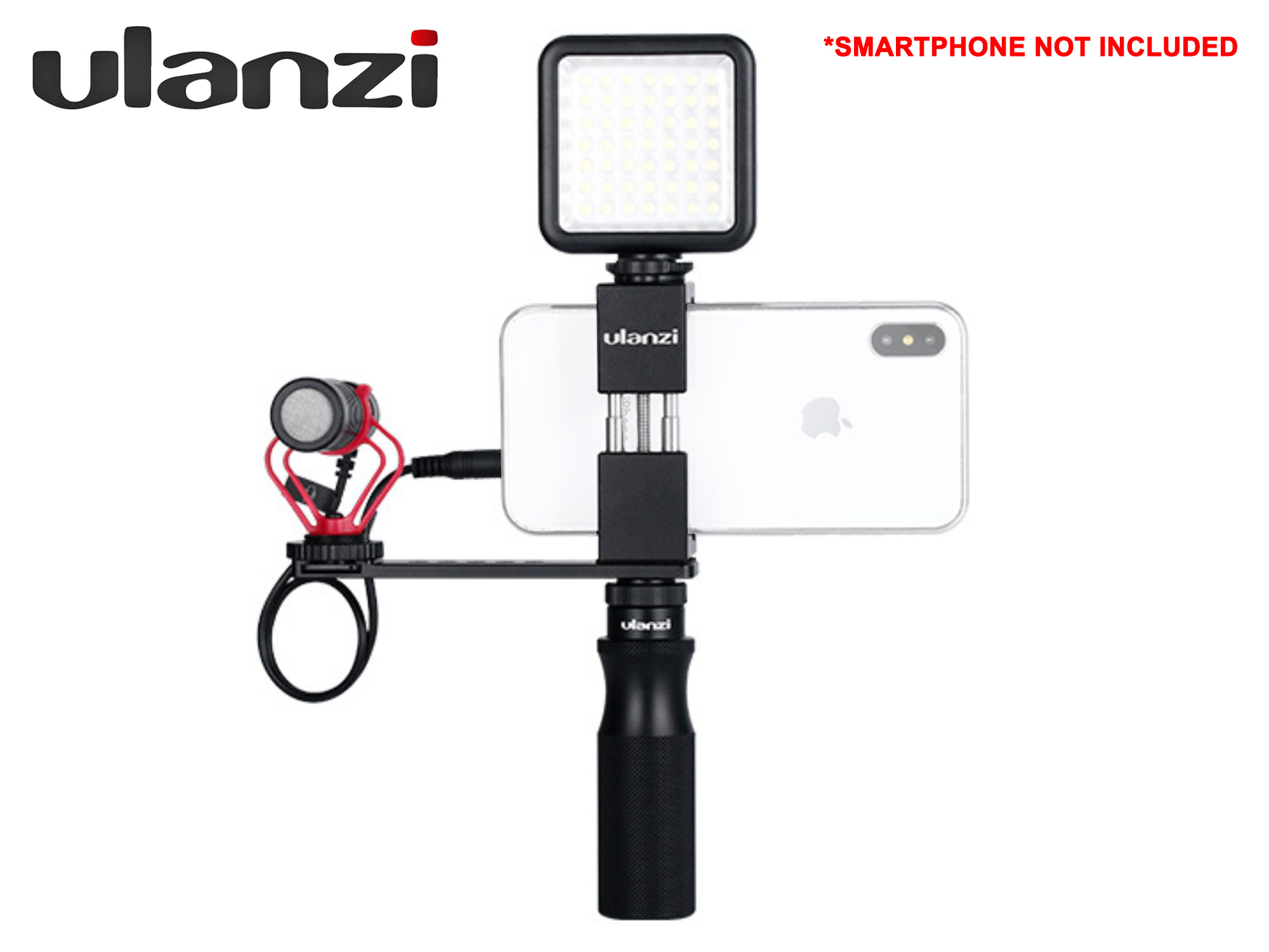 Ulanzi Vlogging Set - Microphone + Phone Grip + Handle + Extension Bracket + LED Light