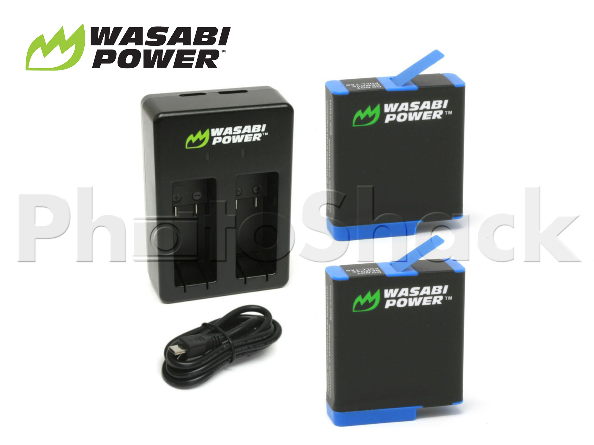 AHDBT801 GoPro Hero 8 Battery (2 Pack + Dual Charger) - Wasabi Power