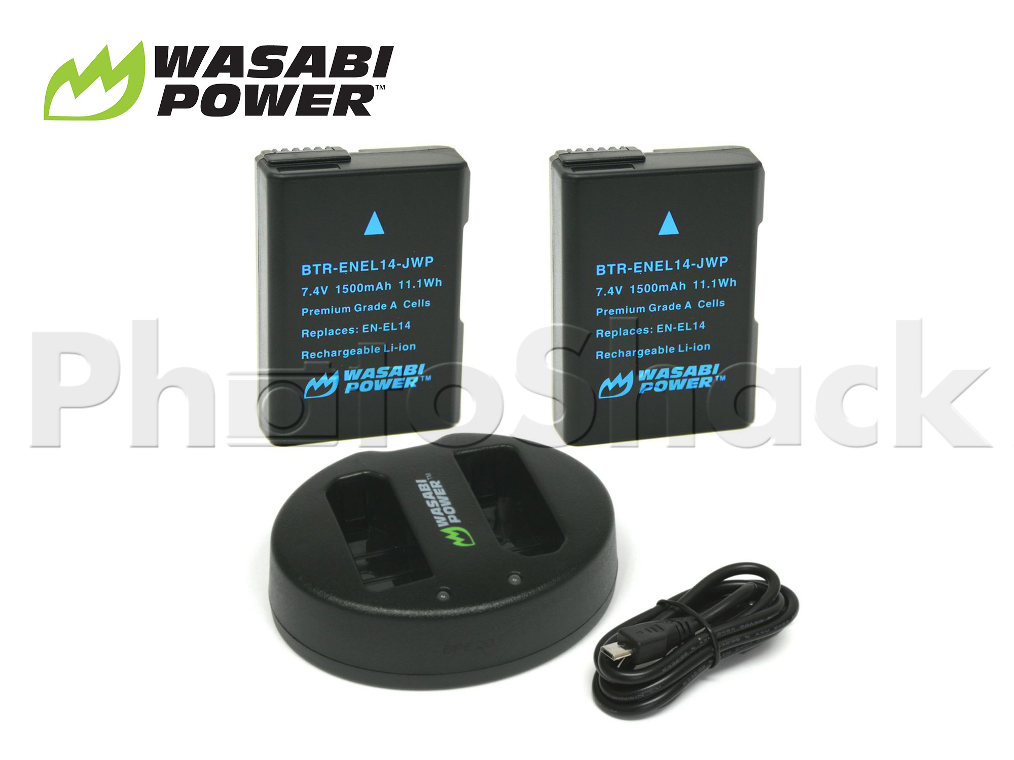 EN-EL14 Battery for Nikon (2 Pack + Dual Charger) - Wasabi Power
