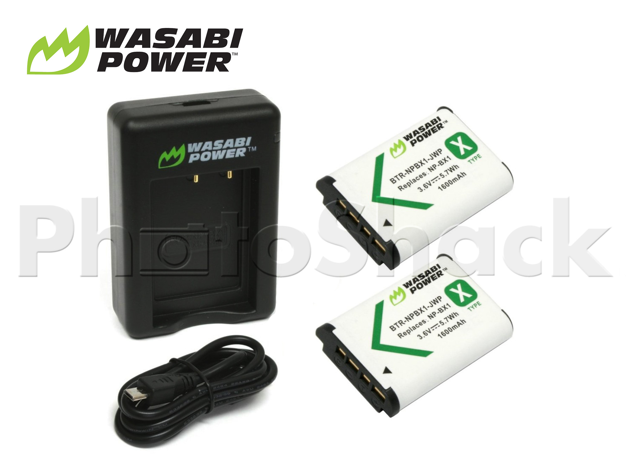 NP-BX1 Battery for Sony (2 Pack + Dual Charger) - Wasabi Power