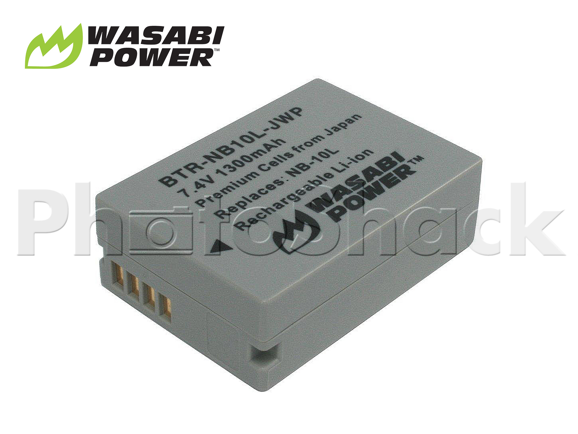 NB-10L Battery for Canon - Wasabi Power
