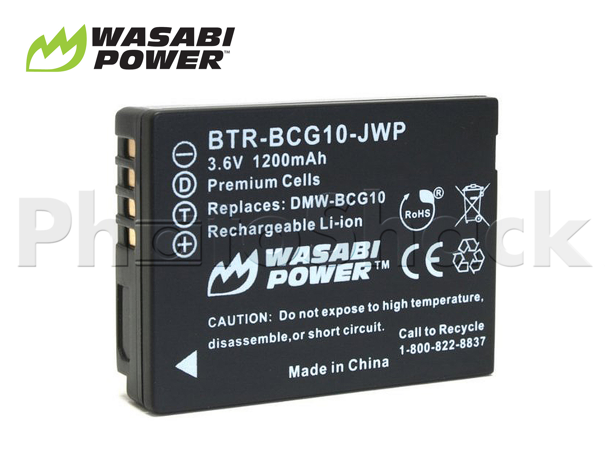 DMW-BCG10 Battery for Panasonic - Wasabi Power