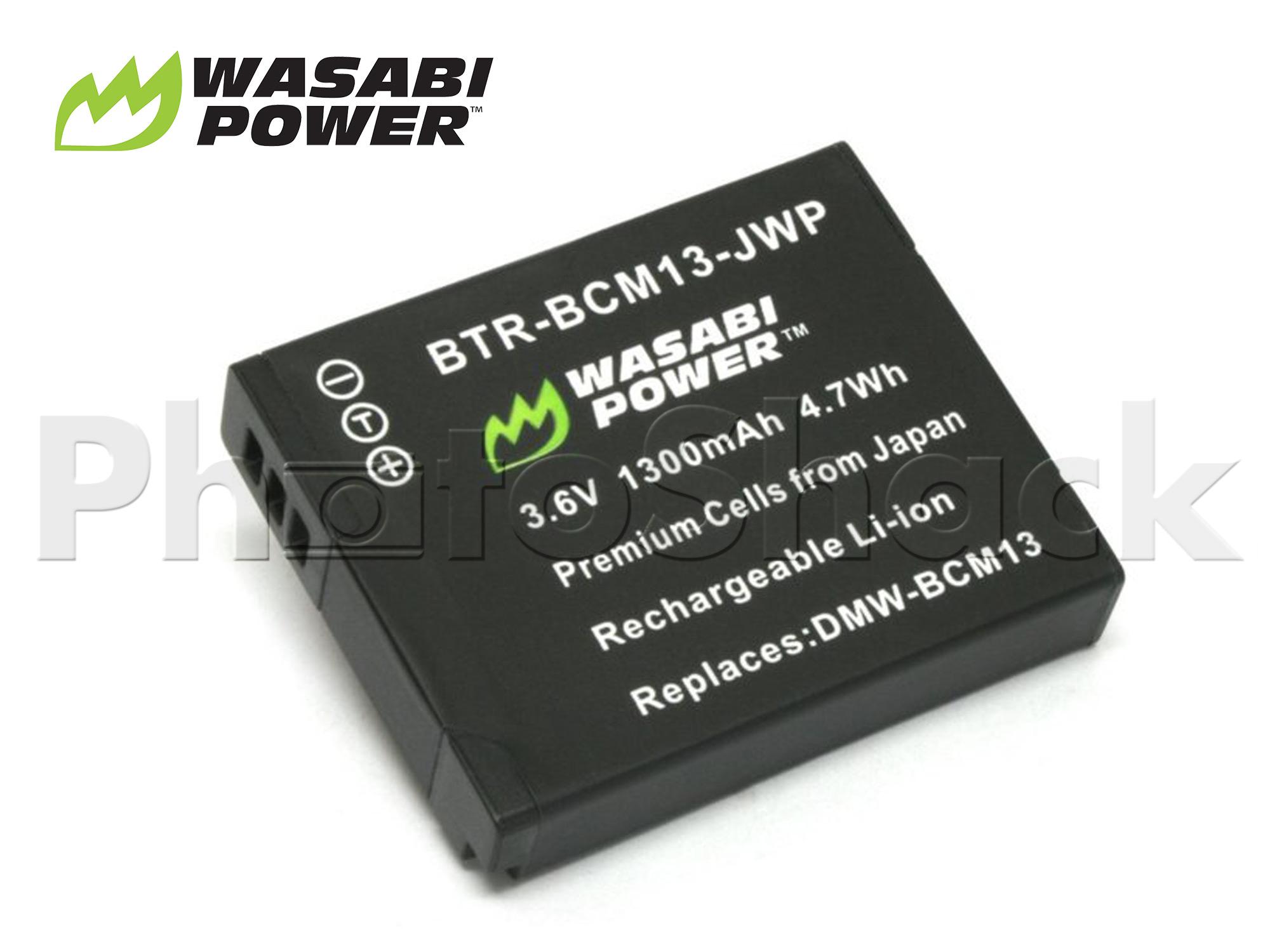 DMW-BCM13 Battery for Panasonic - Wasabi Power