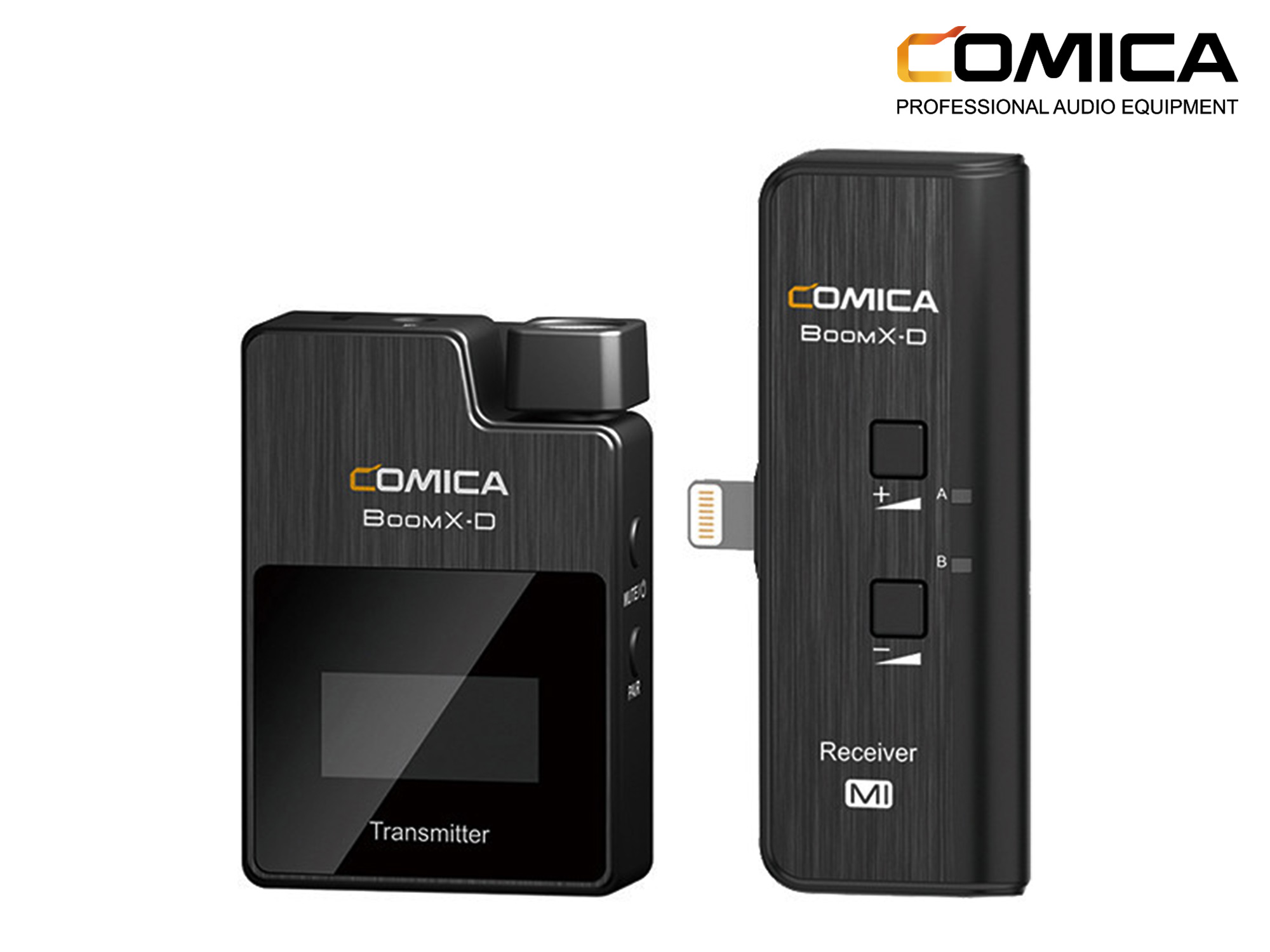 Comica BoomX-D MI1 Ultracompact Digital Wireless Microphone System for iOS Smartphones (2.4 GHz)