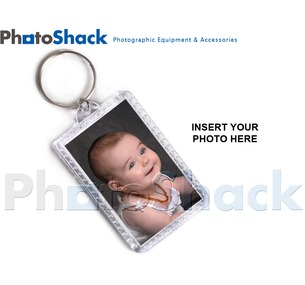 Key Ring rectangle Shape - insert your own pix